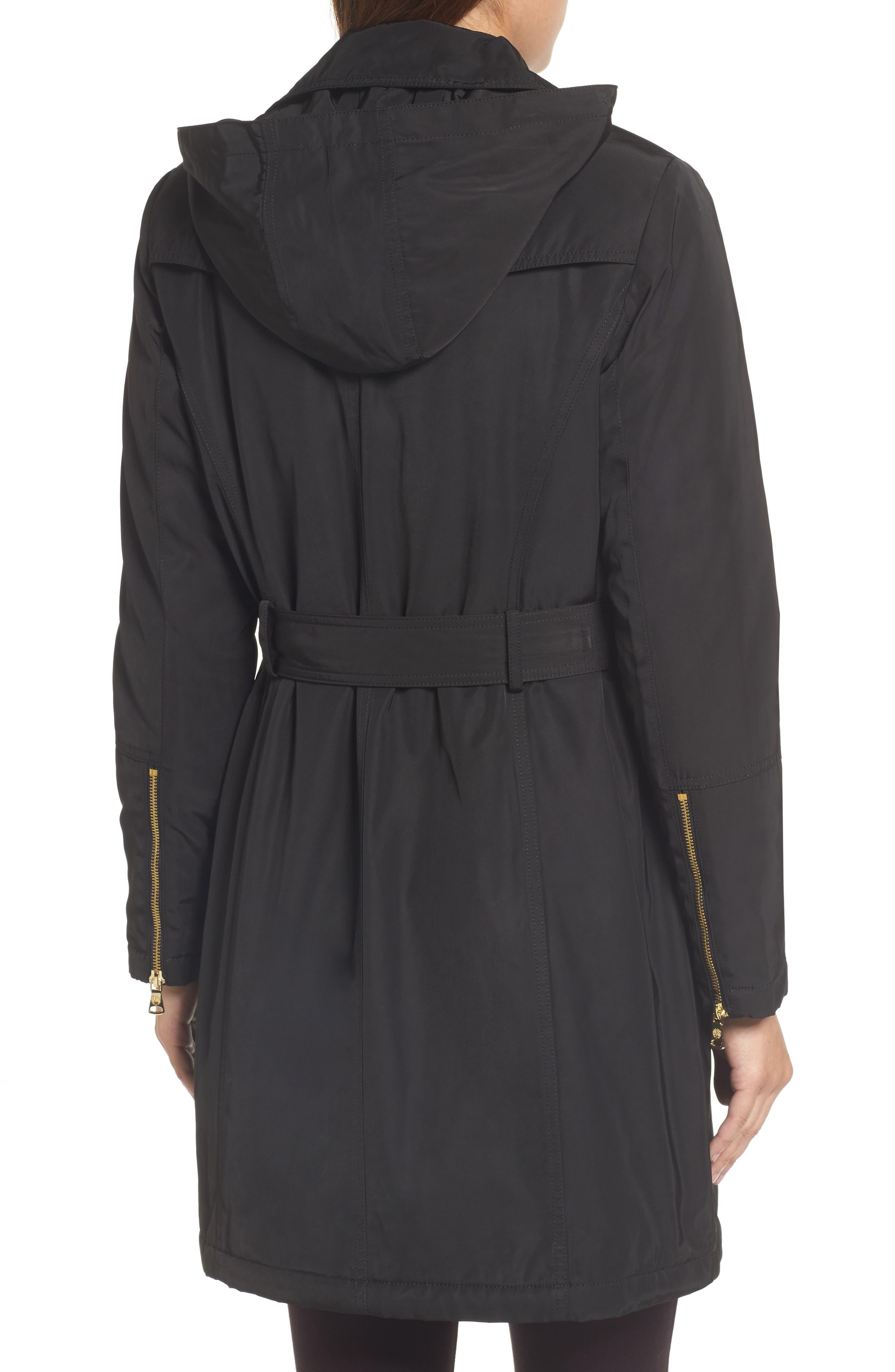 Belted Raincoat,                             Alternate thumbnail 2, color,                             001