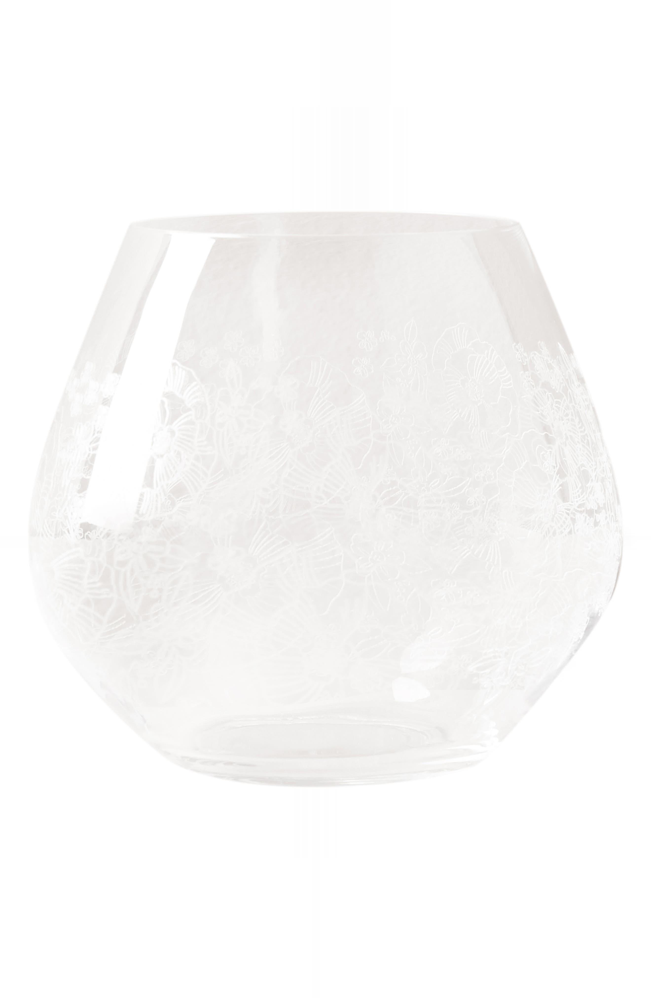 Gardenshire Stemless Wine Glass,                             Alternate thumbnail 4, color,                             100