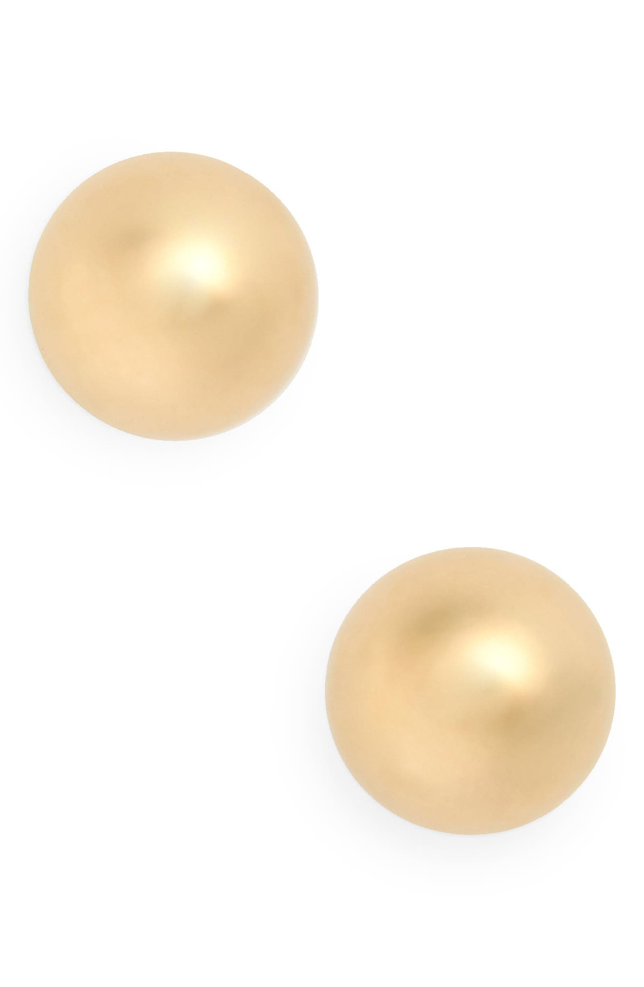 14K Gold Ball Stud Earrings,                         Main,                         color, YELLOW GOLD