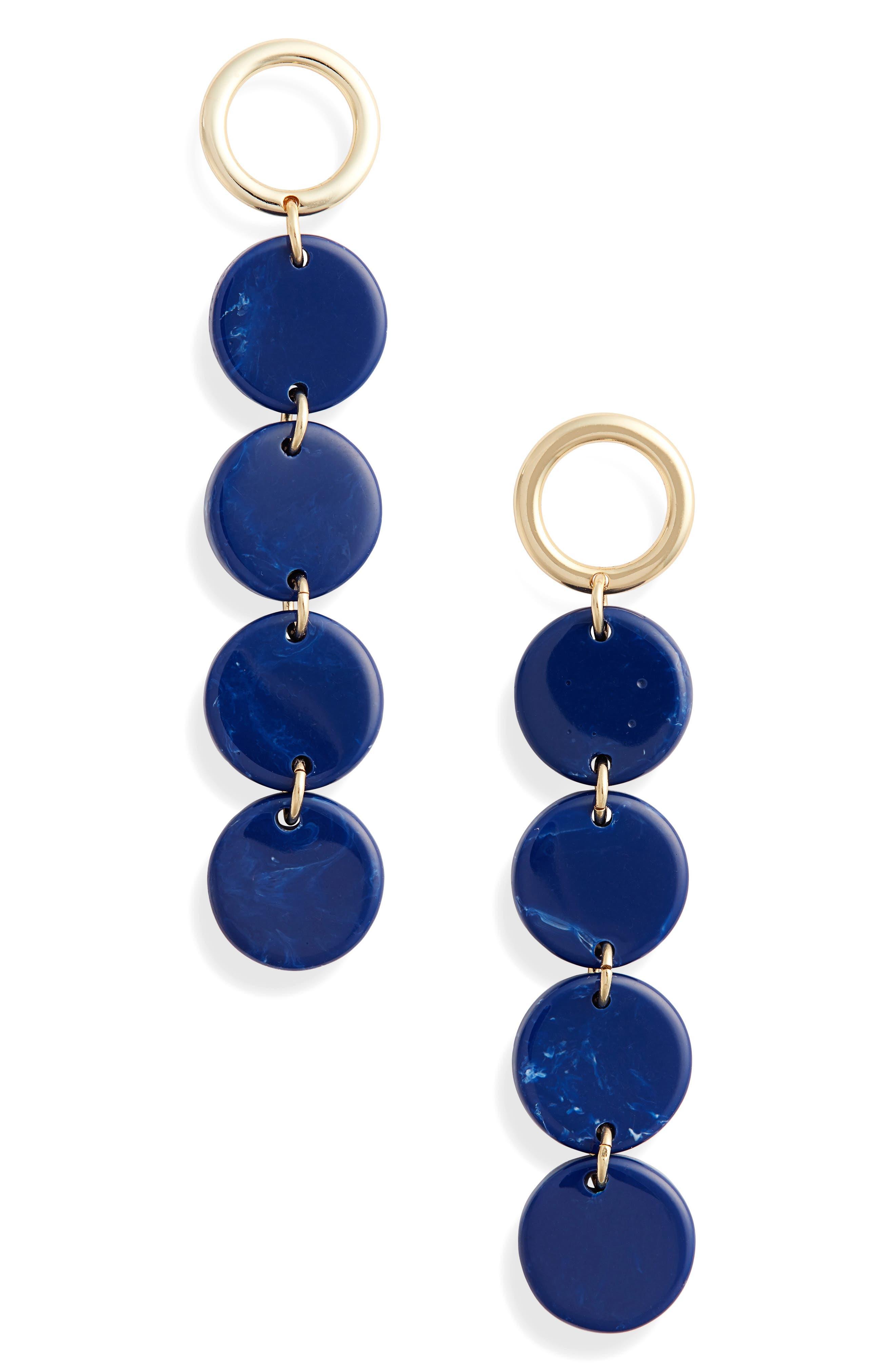 Circle Drops Earrings, Main, color, GOLD