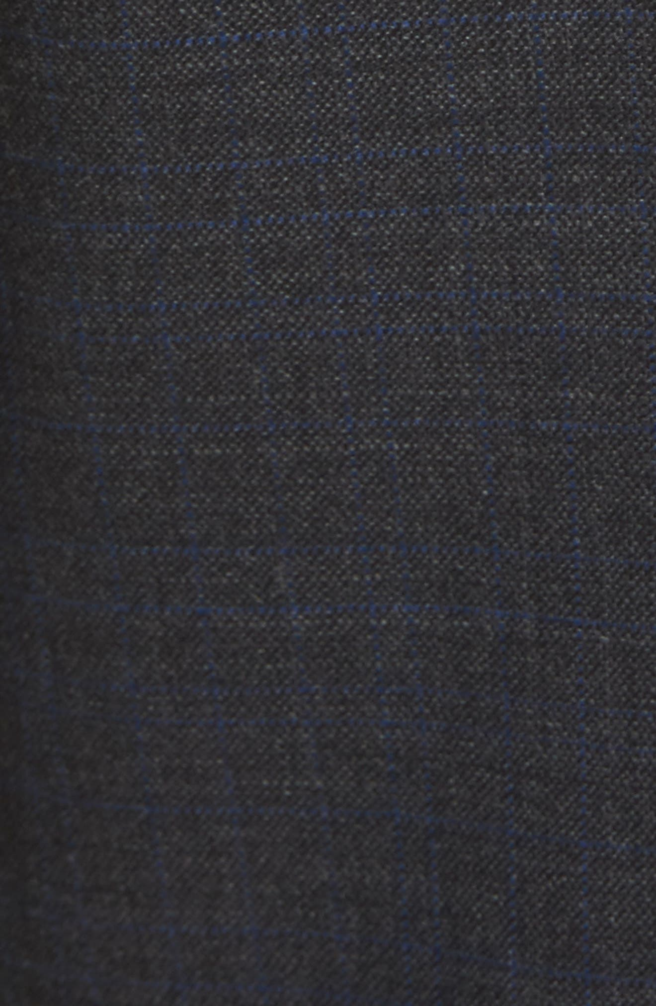 Jefferson Flat Front Solid Wool Trousers,                             Alternate thumbnail 2, color,                             020