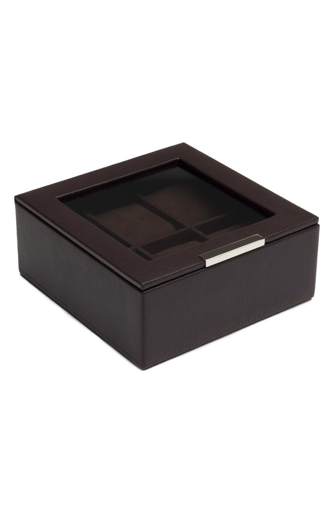 Stackable Watch Case,                         Main,                         color, BROWN