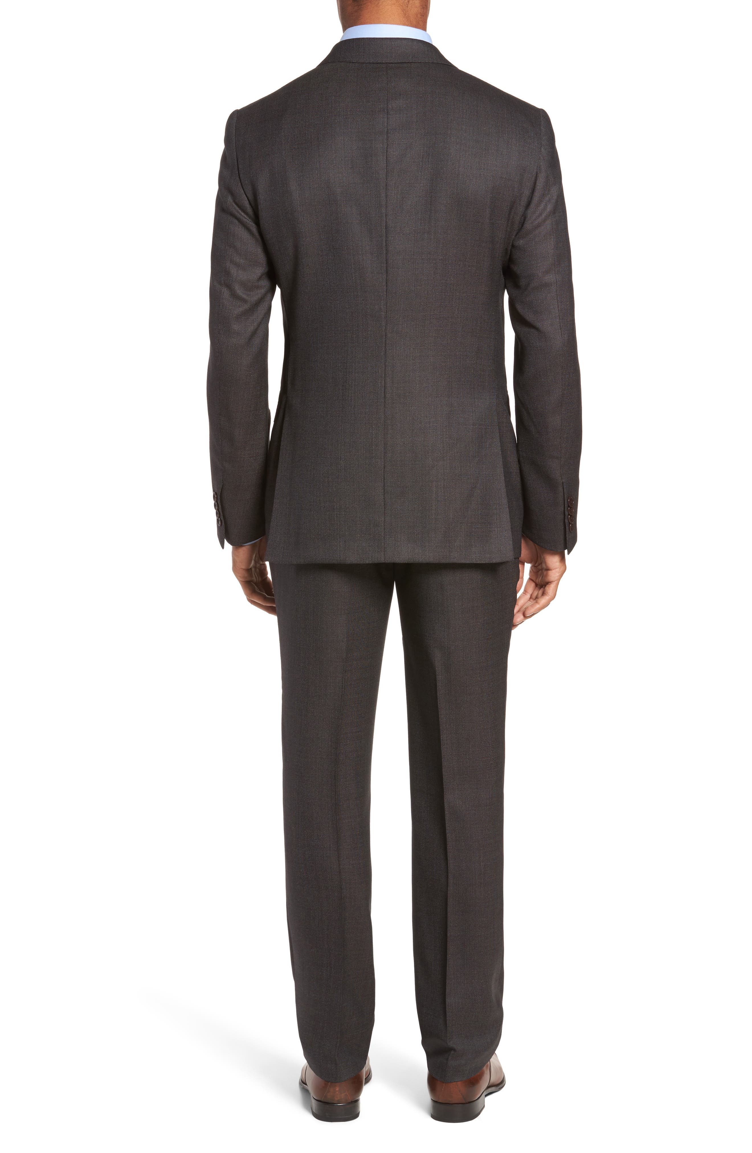 Classic Fit Micro Weave Wool Suit,                             Alternate thumbnail 2, color,                             200