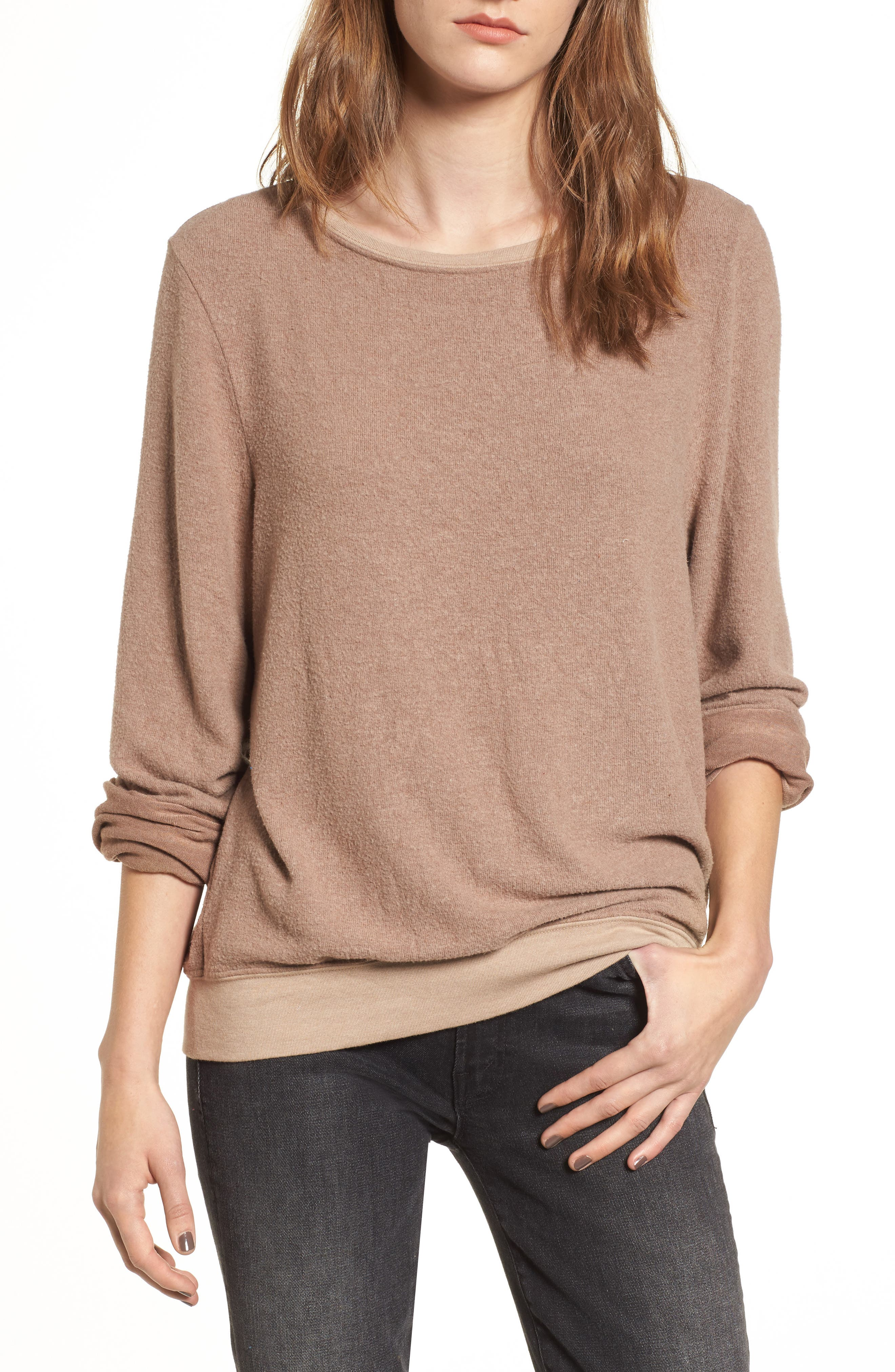 'Baggy Beach Jumper' Pullover,                             Main thumbnail 6, color,