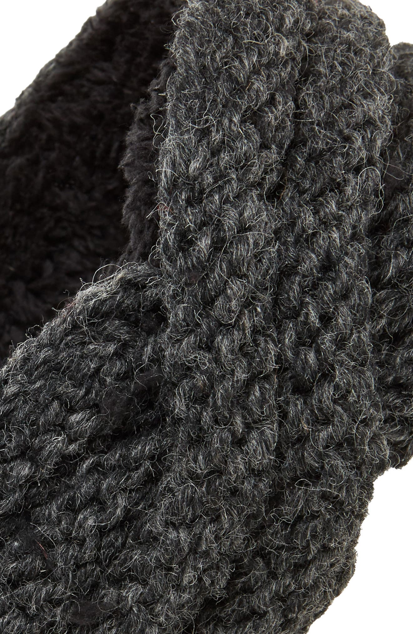 Veronica Cabled Wool Headband,                             Alternate thumbnail 2, color,                             CHARCOAL