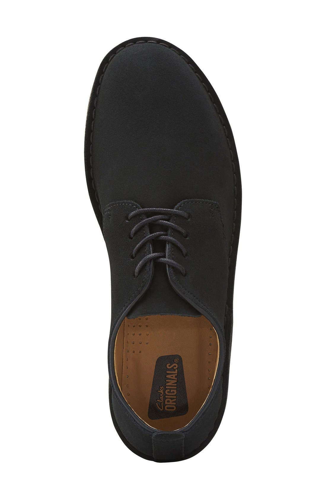 'Desert London' Plain Toe Derby,                             Alternate thumbnail 3, color,                             BLACK SUEDE