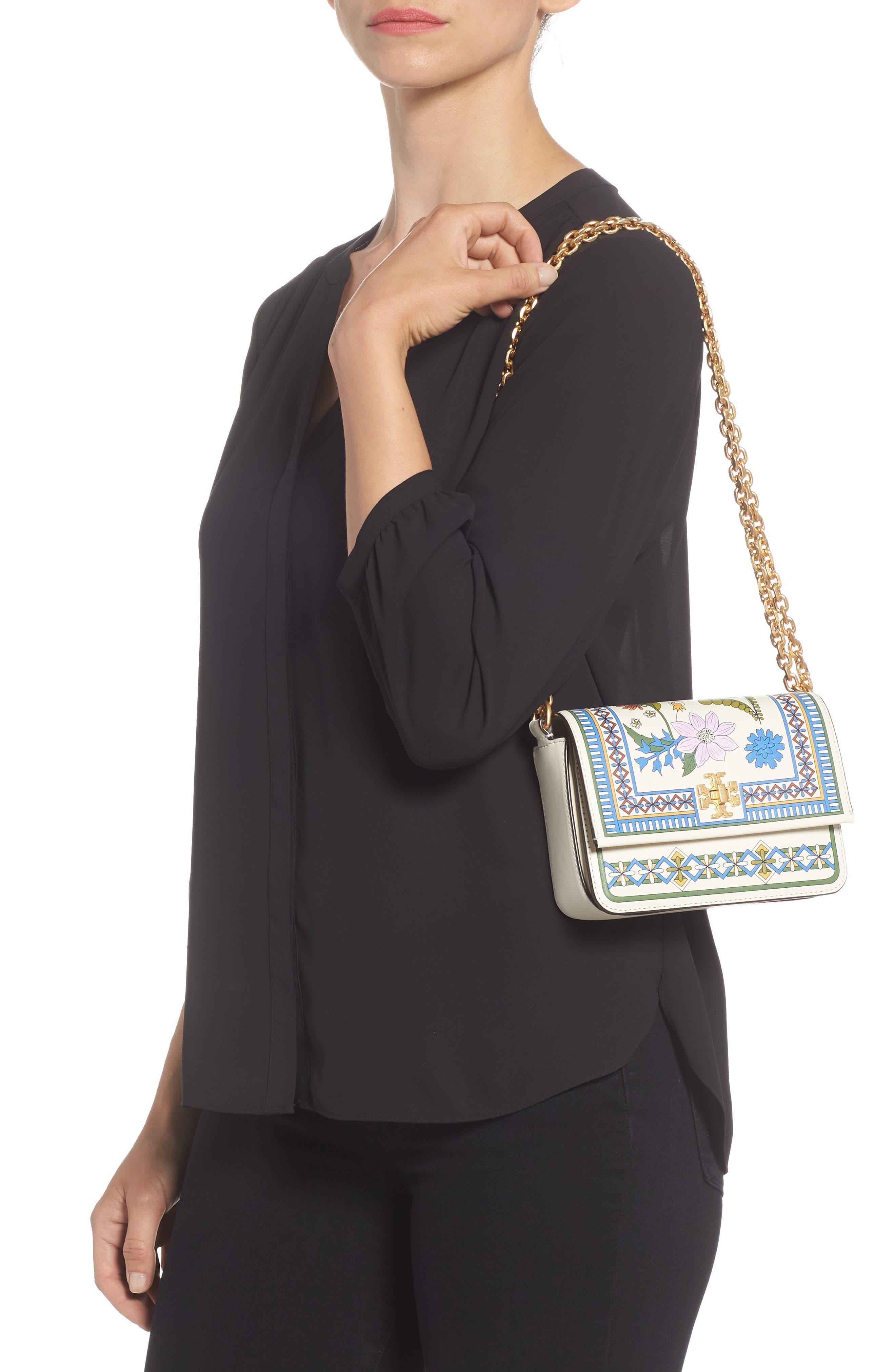 Mini Kira Floral Print Leather Bag,                             Alternate thumbnail 2, color,                             IVORY MEADOW SWEET