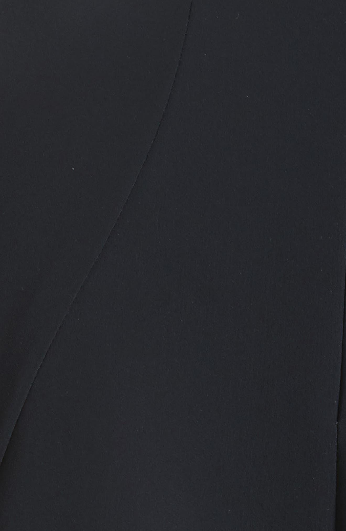 Appliqué Scallop Hem Dress,                             Alternate thumbnail 5, color,                             001