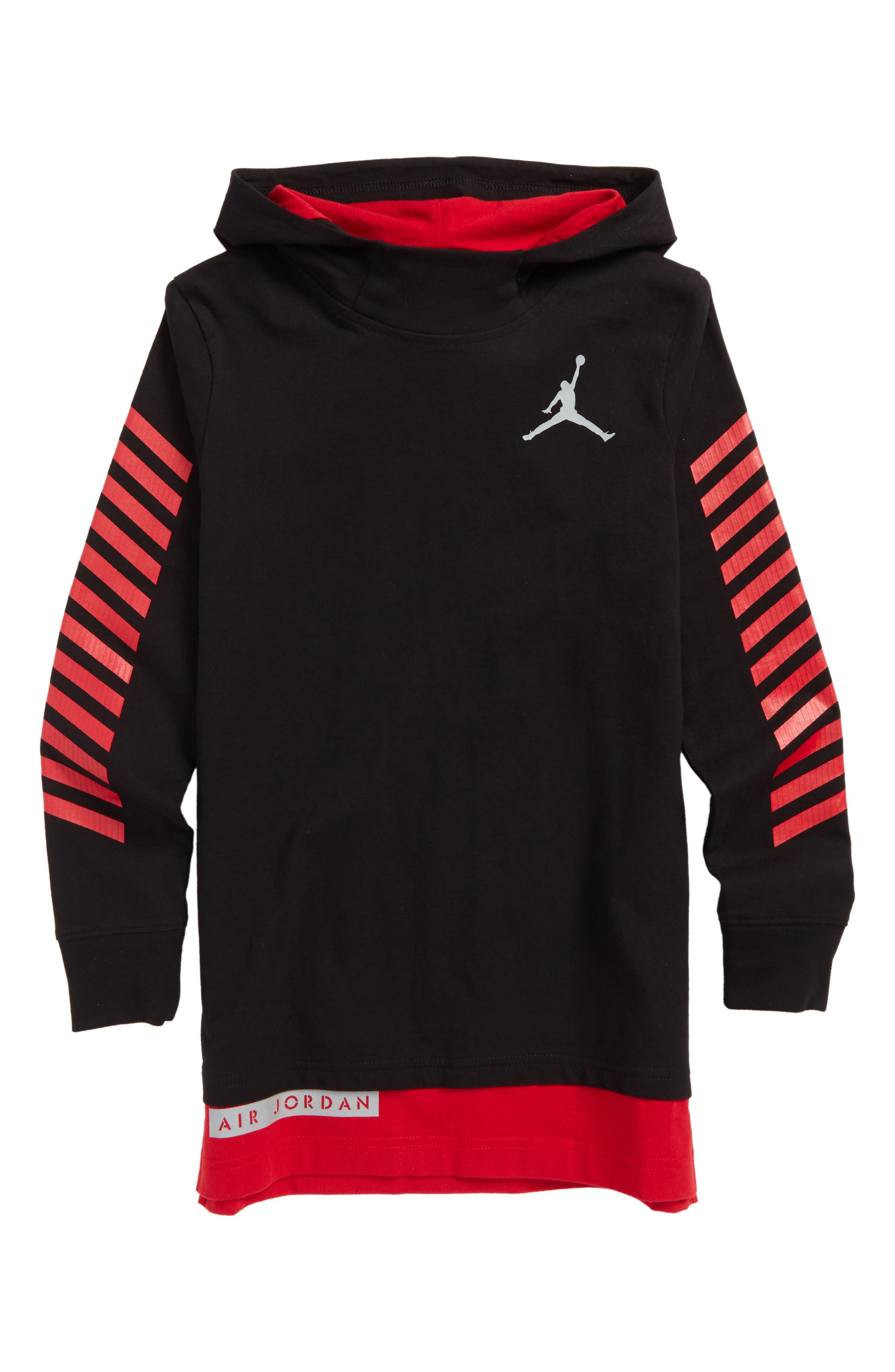 Jordan Mock Layered Hooded Pullover,                             Main thumbnail 1, color,