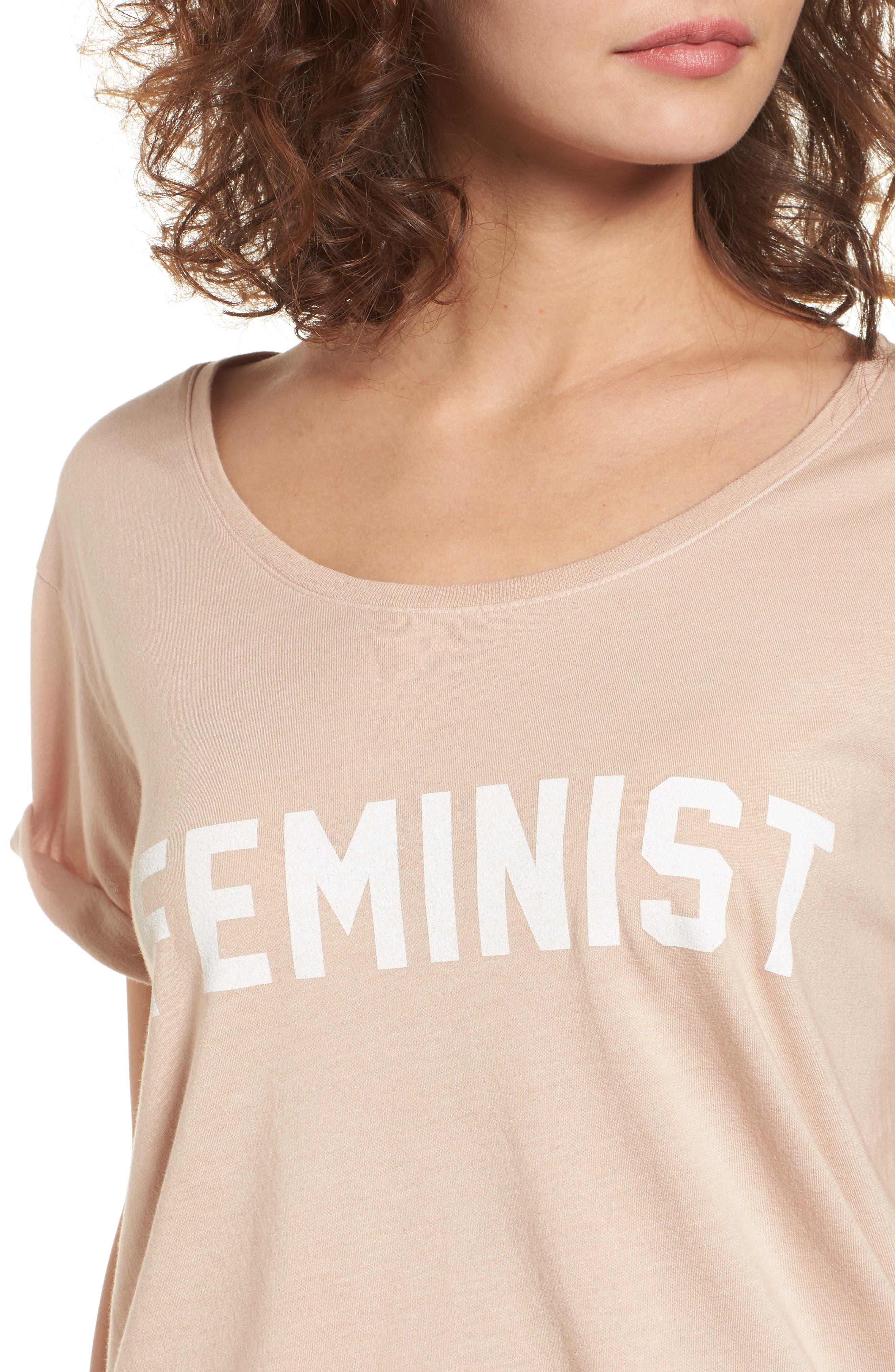 Feminist Graphic Tee,                             Alternate thumbnail 4, color,                             250