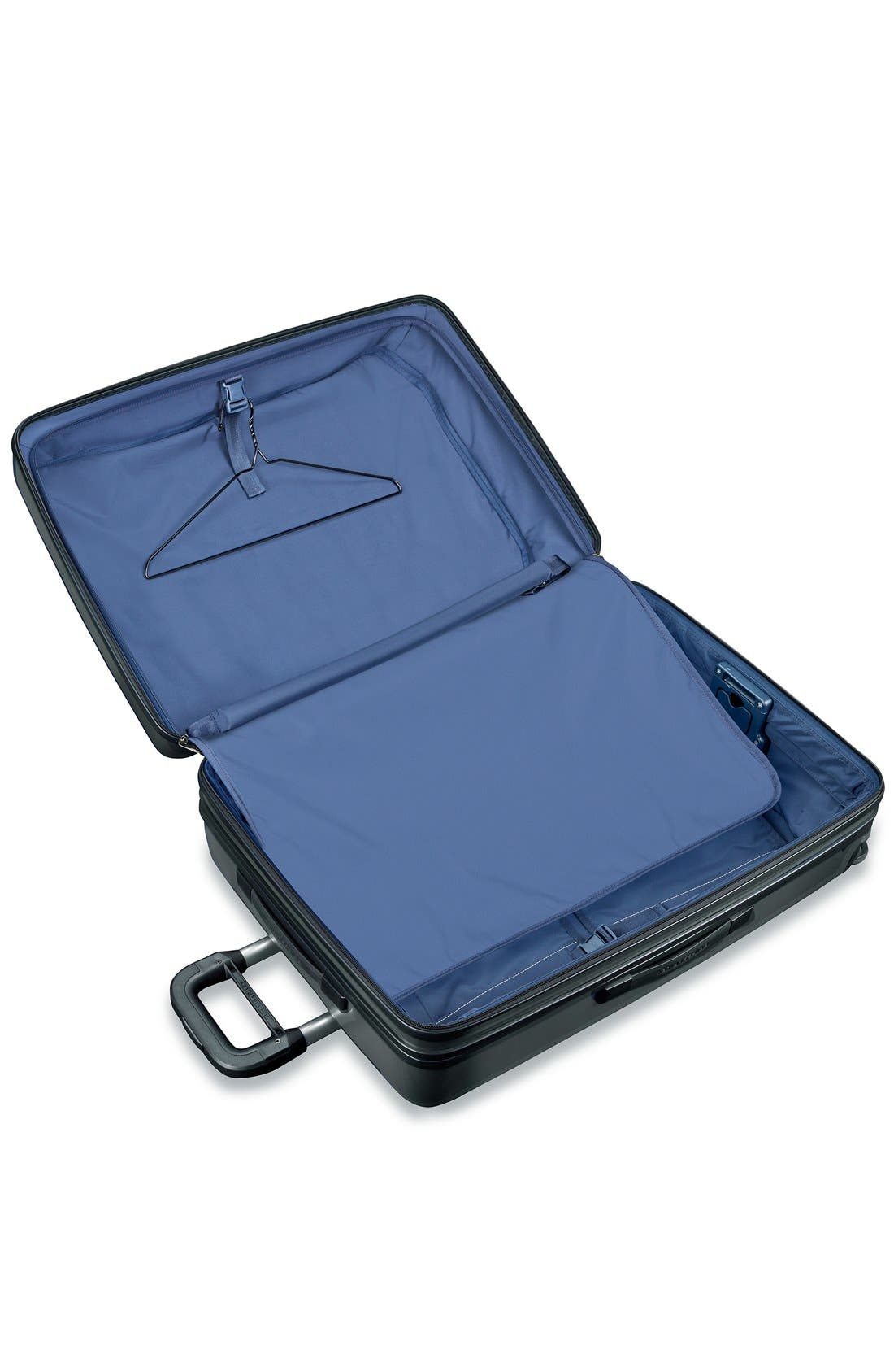 'Sympatico' Expandable Wheeled Packing Case,                             Alternate thumbnail 3, color,                             BLACK