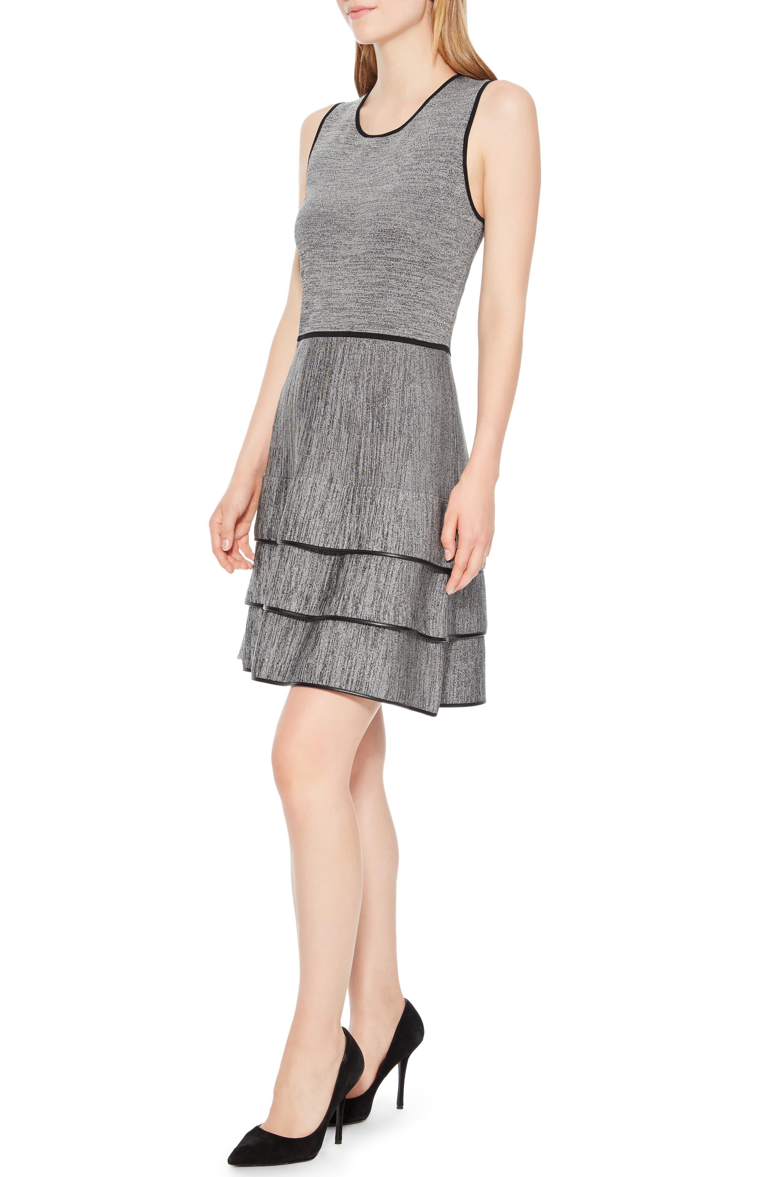 Sondra Knit Dress,                             Alternate thumbnail 3, color,                             005
