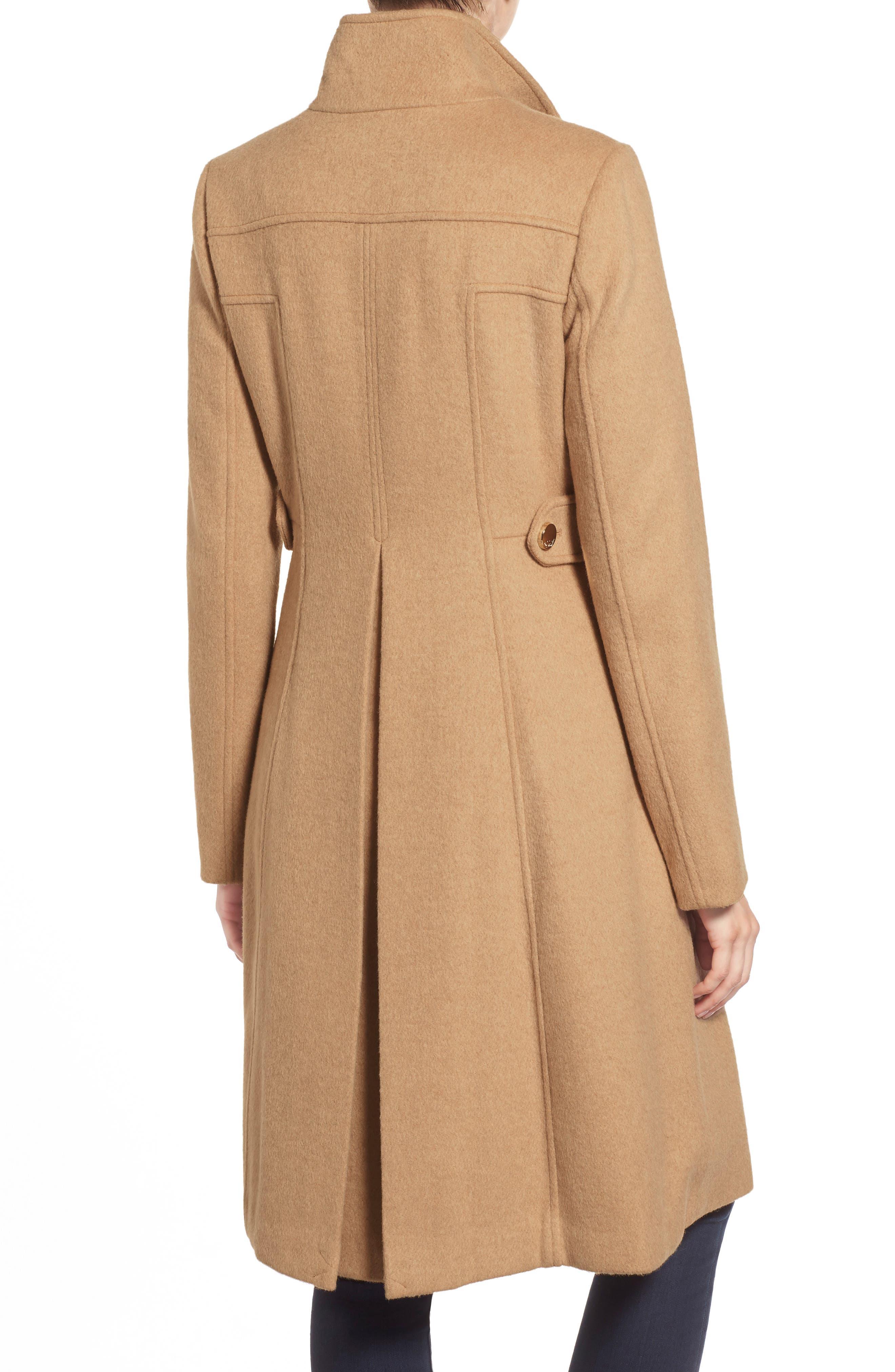 Wool Blend Long Military Coat,                             Alternate thumbnail 13, color,