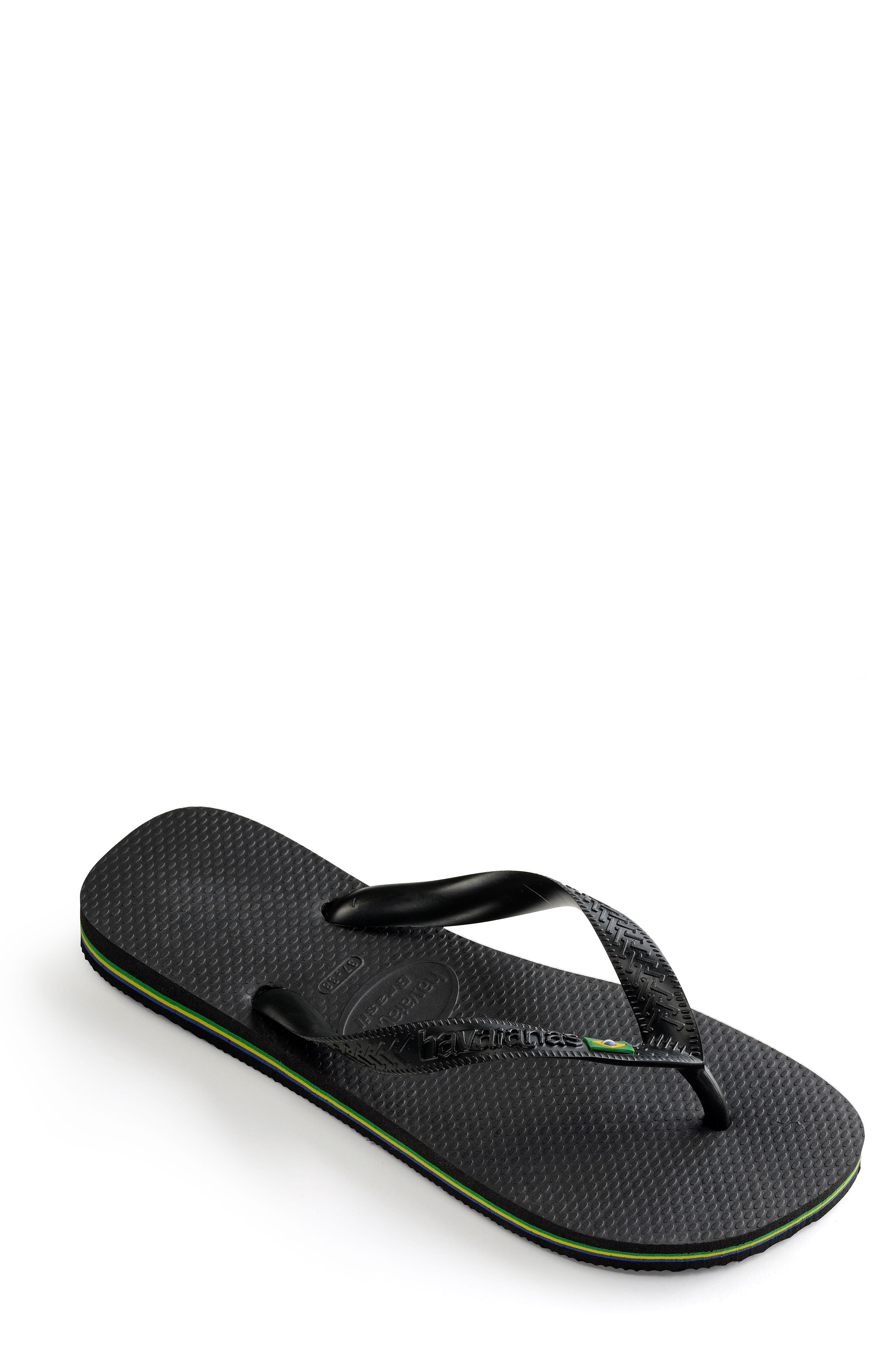 'Brazil' Flip Flop,                             Alternate thumbnail 2, color,                             BLACK
