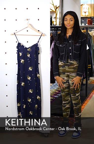 Ruffle Trim Floral Print Midi Dress, sales video thumbnail