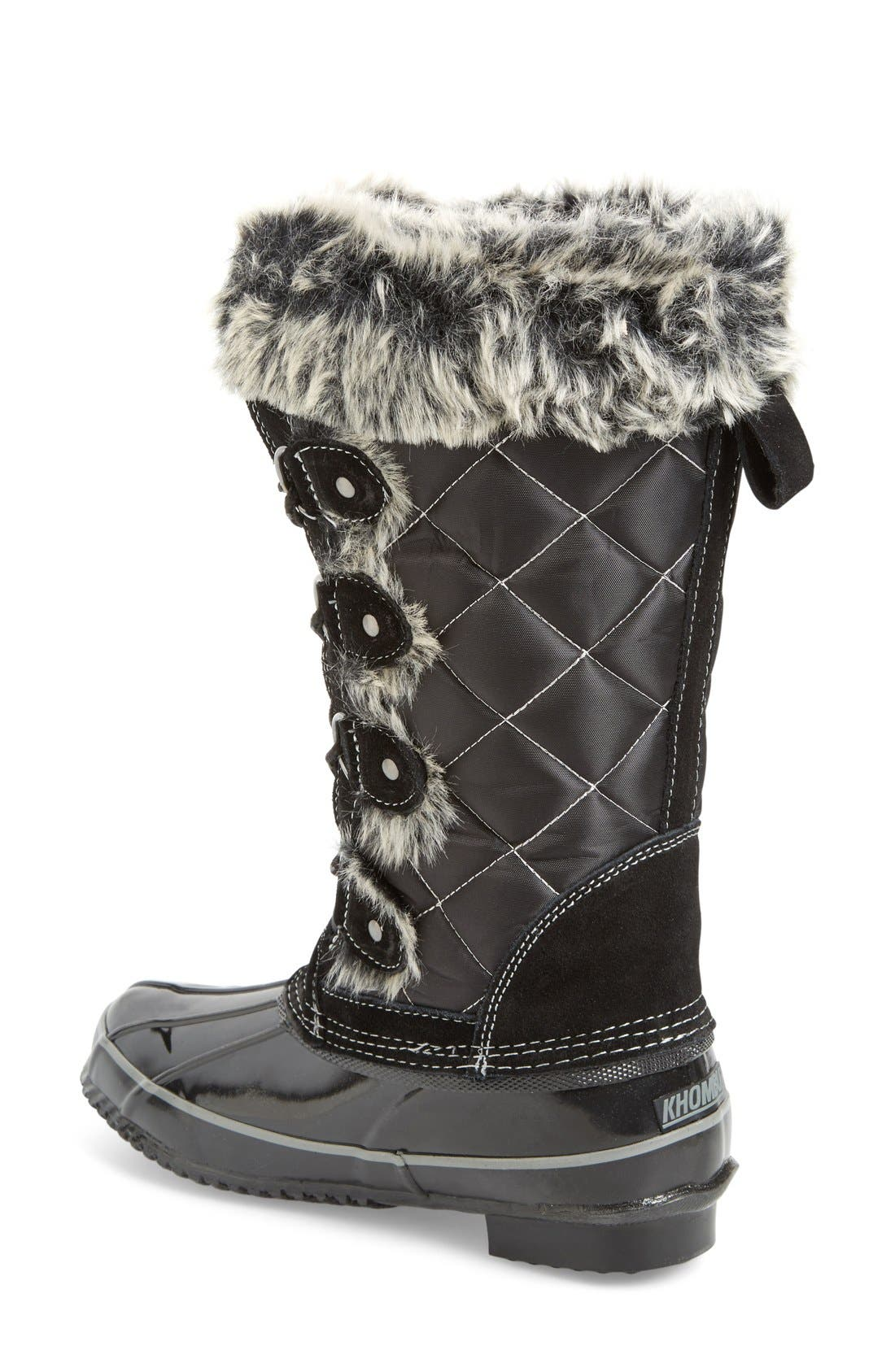 Waterproof Lace-Up Boot,                             Alternate thumbnail 4, color,                             001