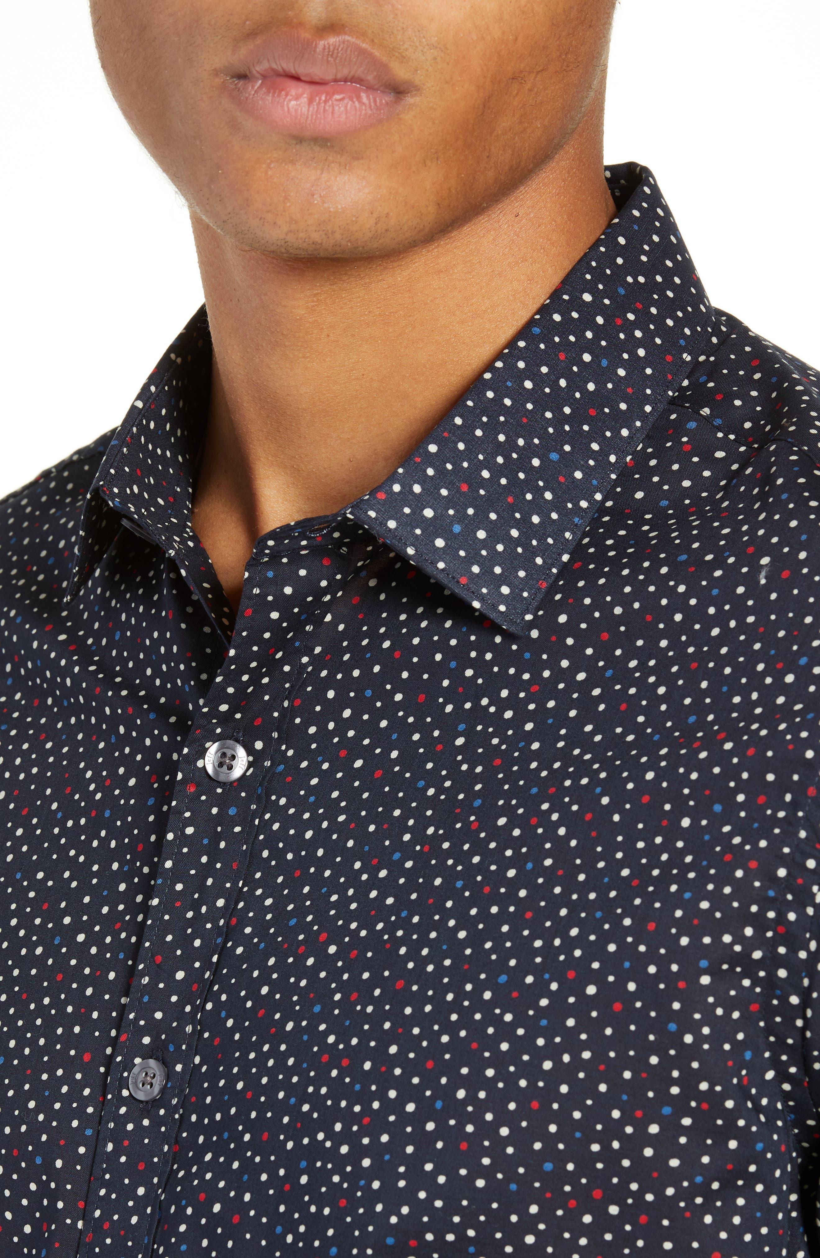 Jenks Slim Fit Long Sleeve Sport Shirt,                             Alternate thumbnail 2, color,                             BLACK