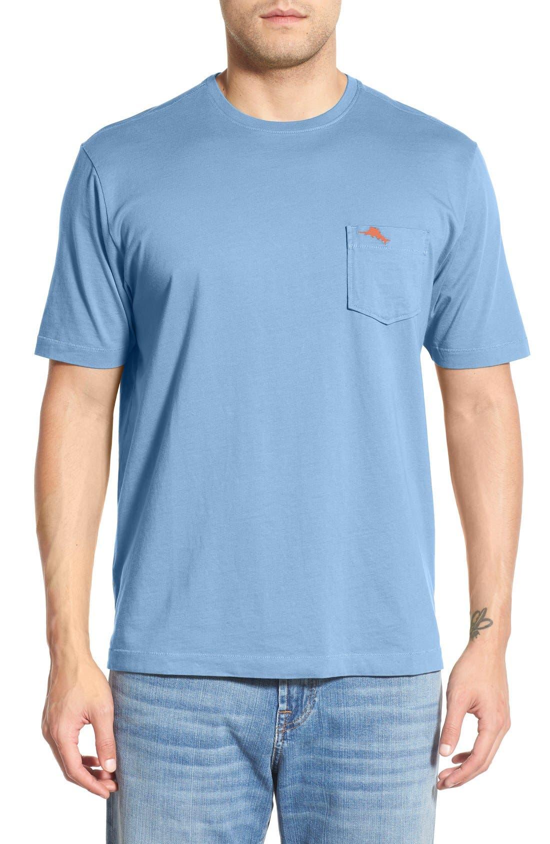 New Bali Sky Pima Cotton Pocket T-Shirt,                             Main thumbnail 28, color,