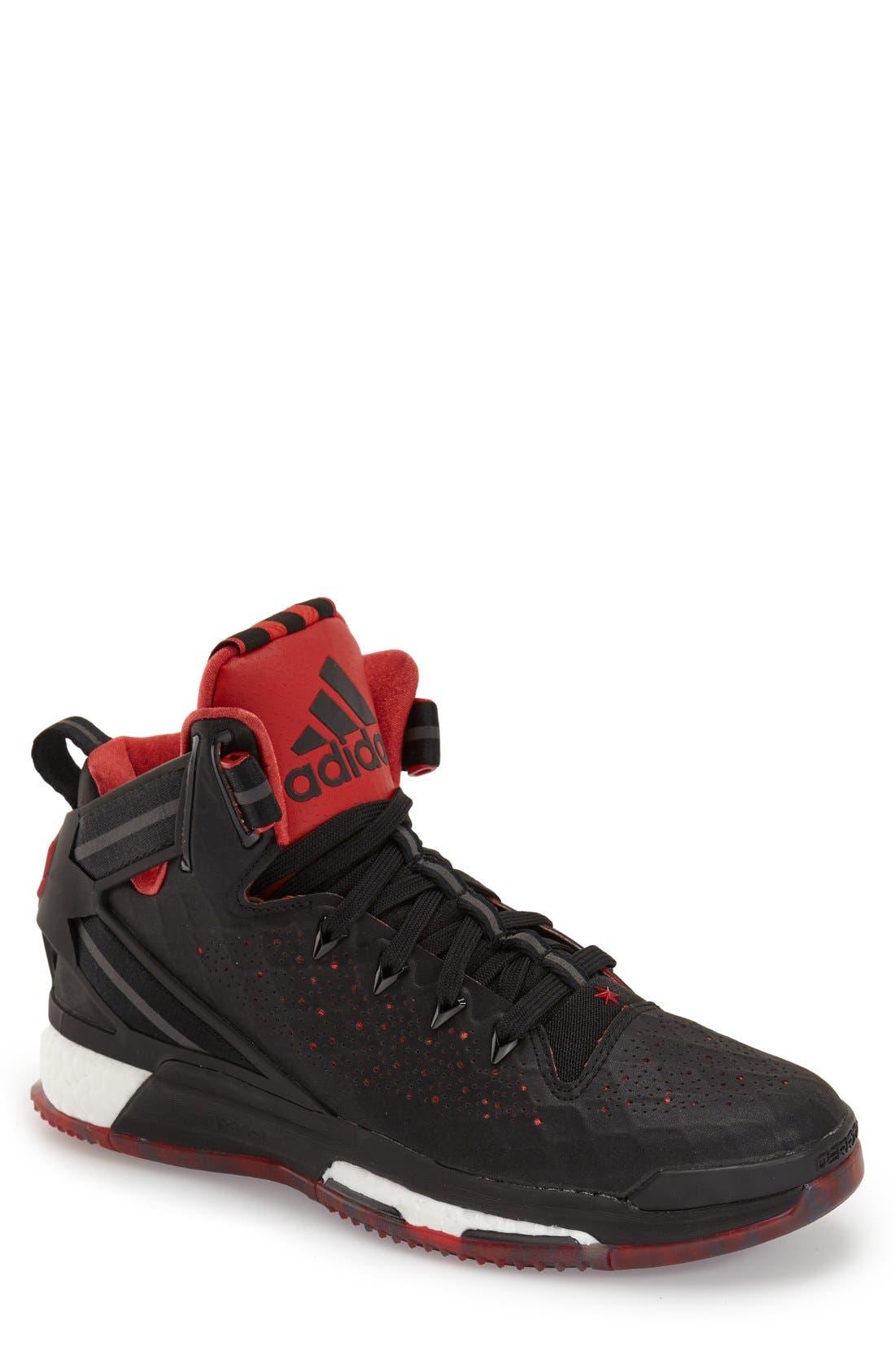 ADIDAS,                             'D Rose 6 - Boost<sup>™</sup>' Basketball Shoe,                             Main thumbnail 1, color,                             001