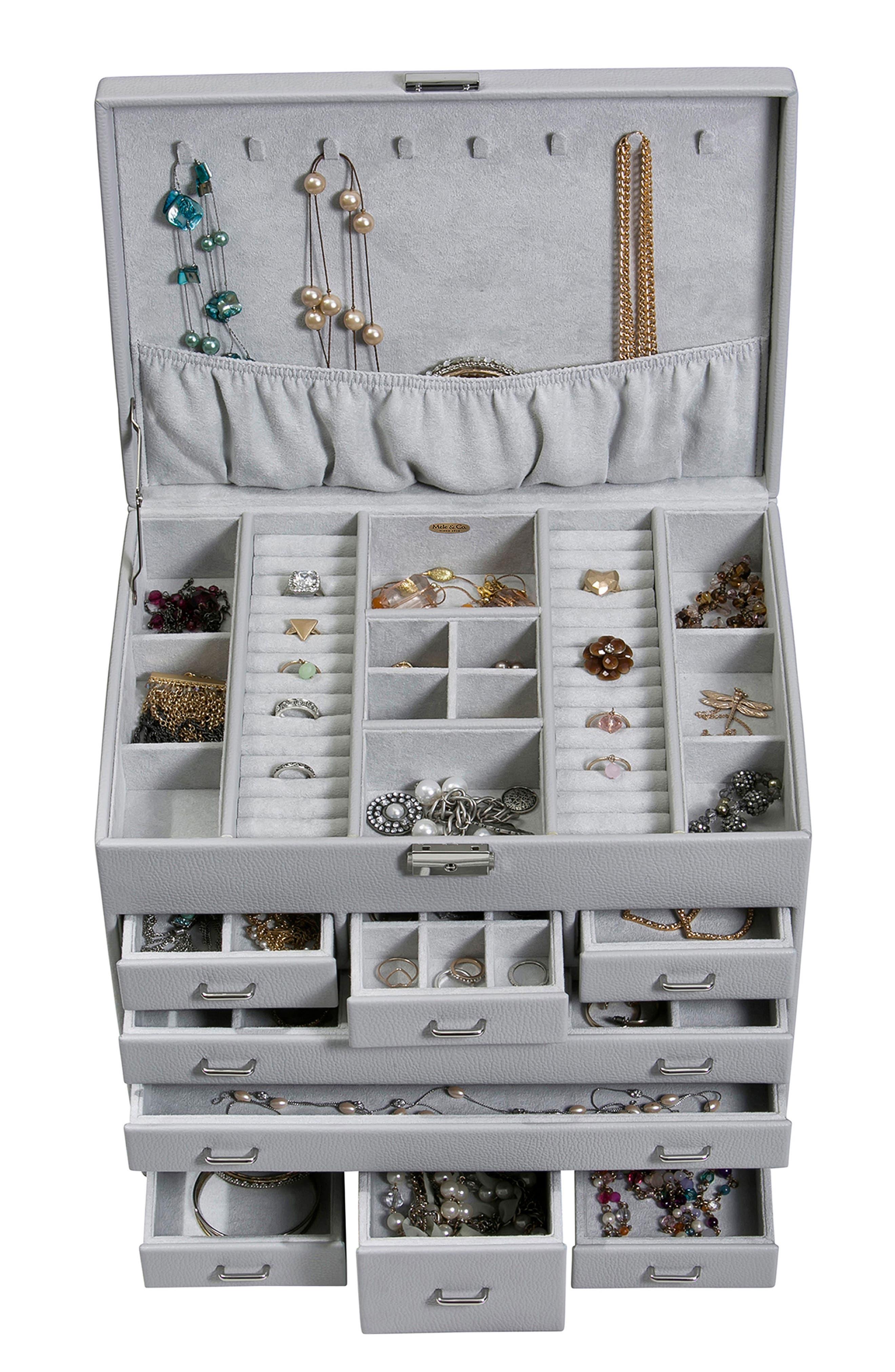 Somerset Locking Jewelry Box,                             Alternate thumbnail 3, color,