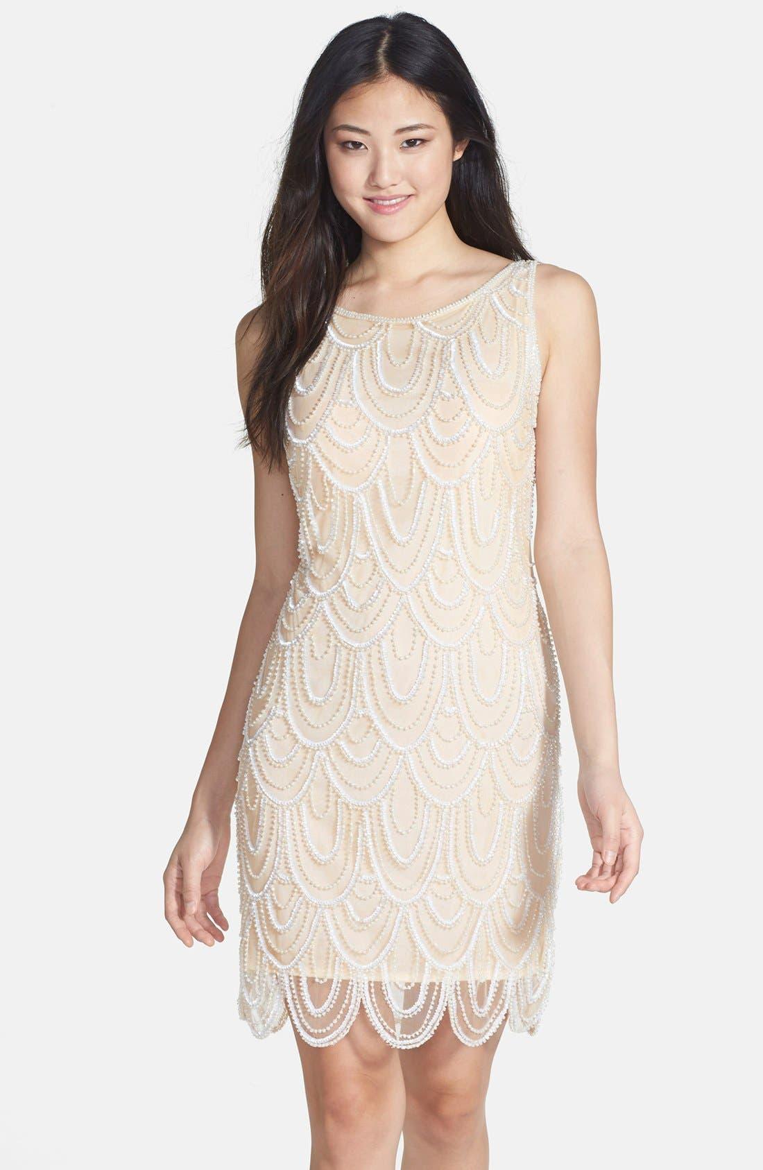 Embellished Mesh Sheath Dress,                             Main thumbnail 13, color,