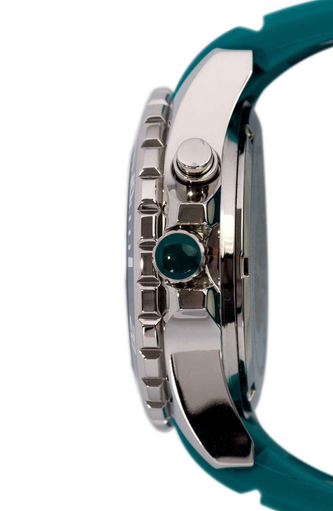 Silicone Strap Watch, 40mm,                             Alternate thumbnail 3, color,                             400