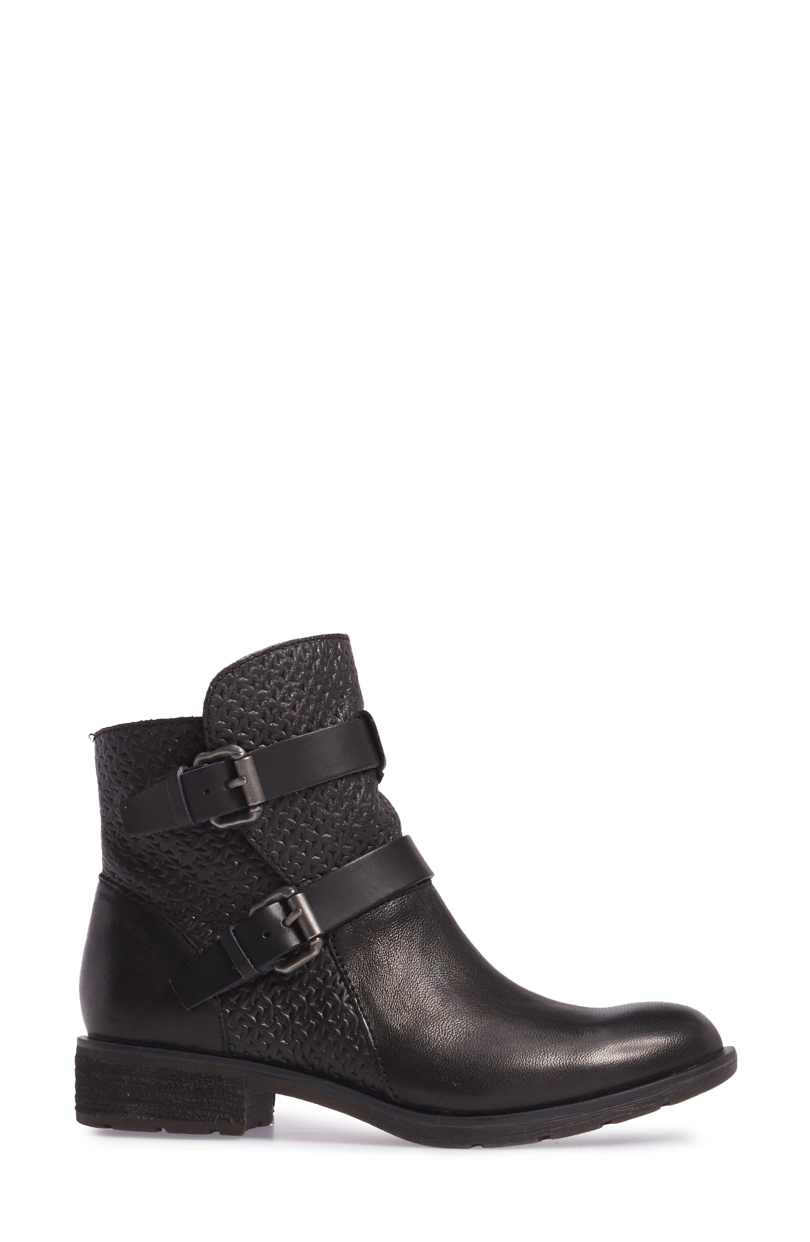 Baywood Buckle Boot,                             Alternate thumbnail 3, color,                             001