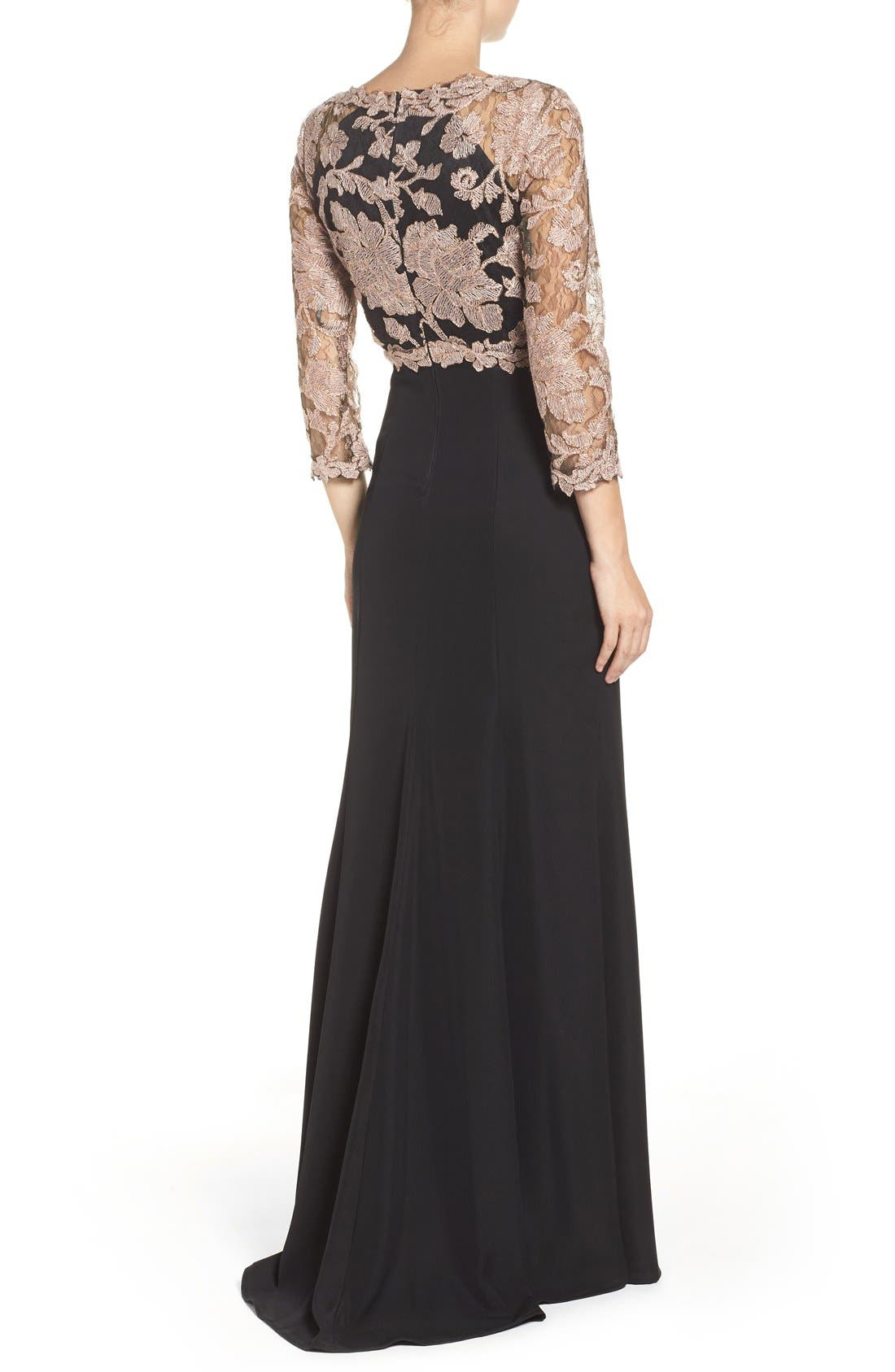 Embroidered Lace Gown,                             Alternate thumbnail 26, color,