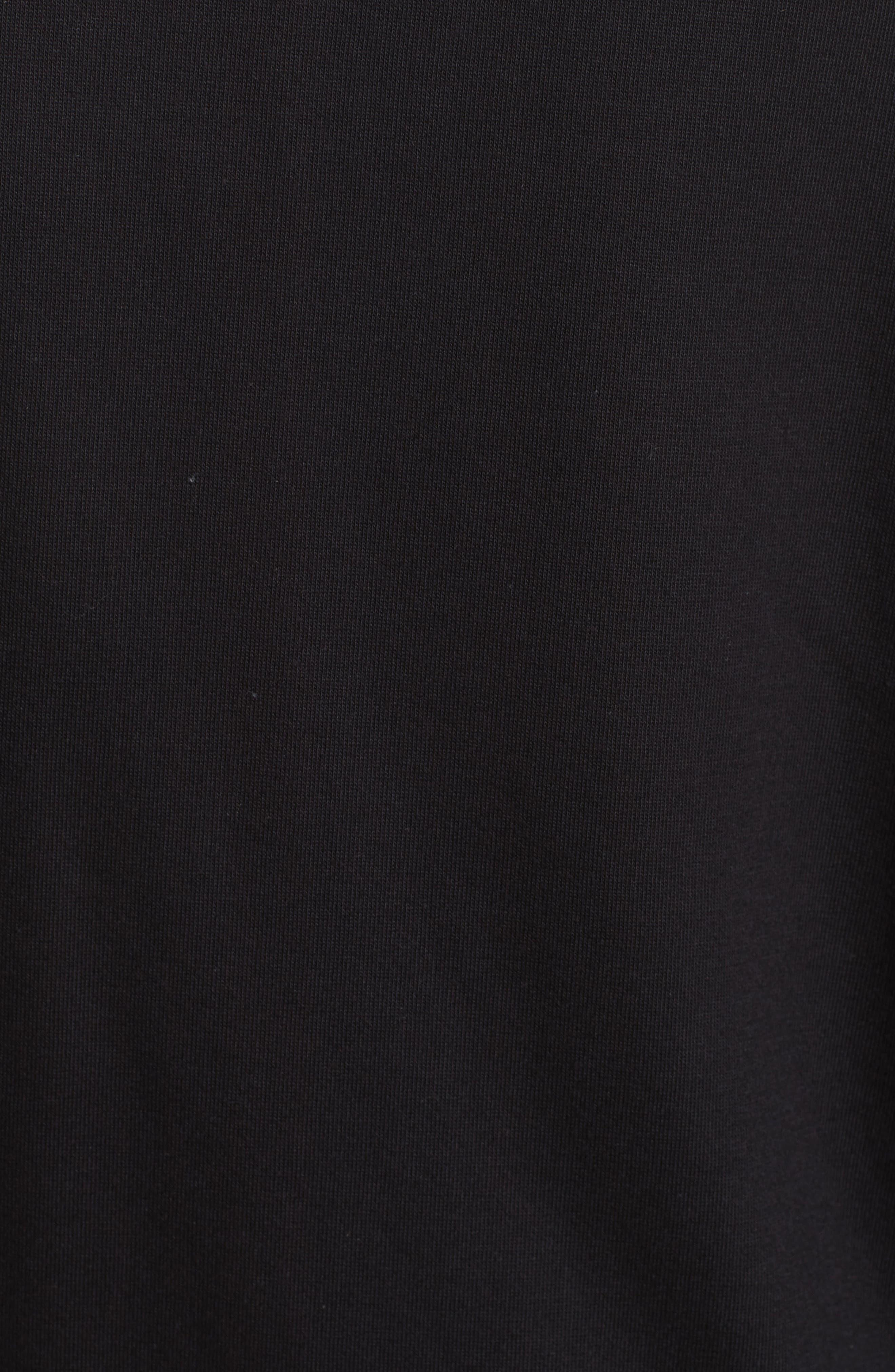 Rockstud Scalloped Sweatshirt,                             Alternate thumbnail 6, color,                             001