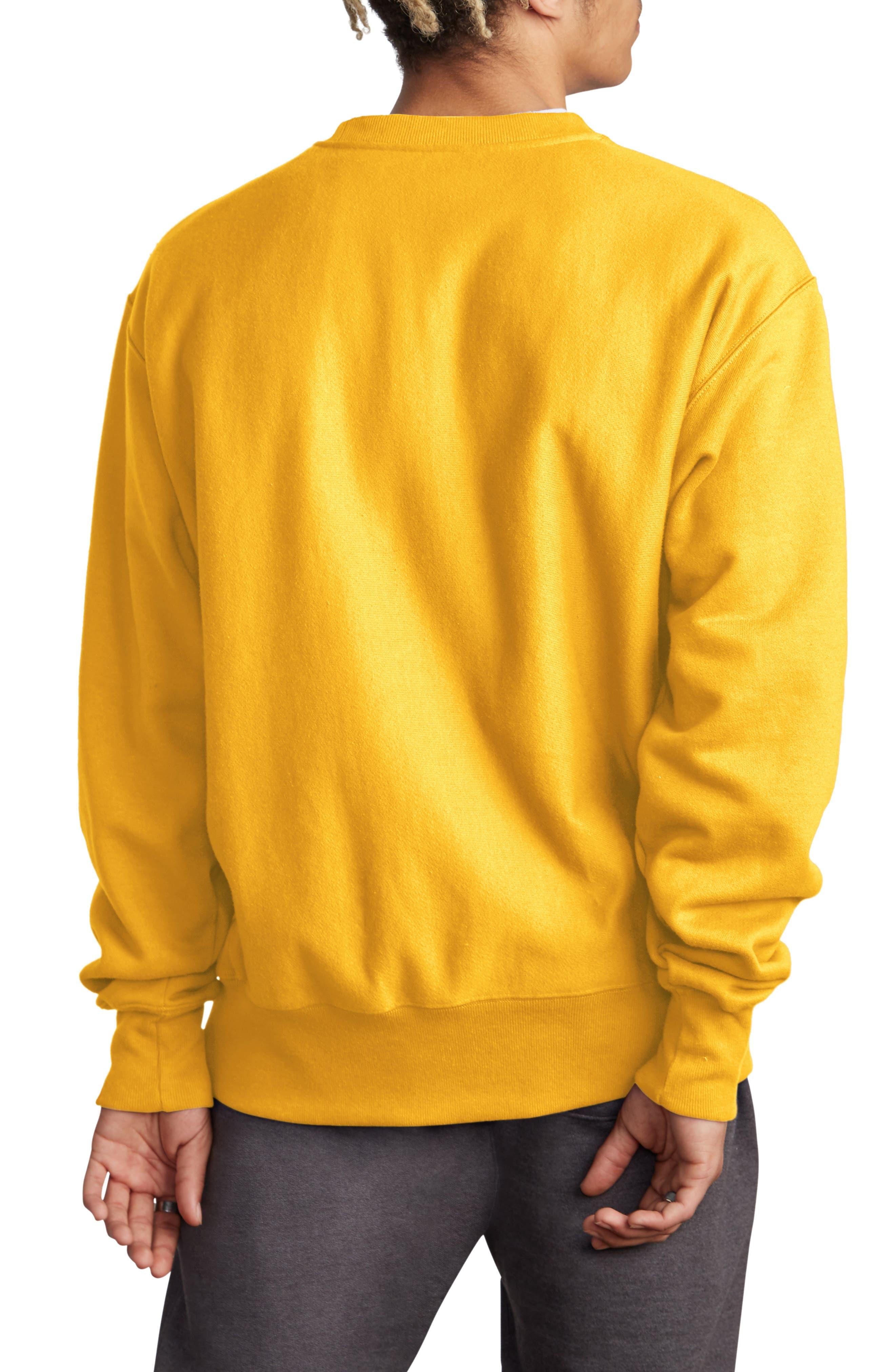 Sublimated Logo Crewneck Sweatshirt,                             Alternate thumbnail 2, color,                             CHAMPION GOLD