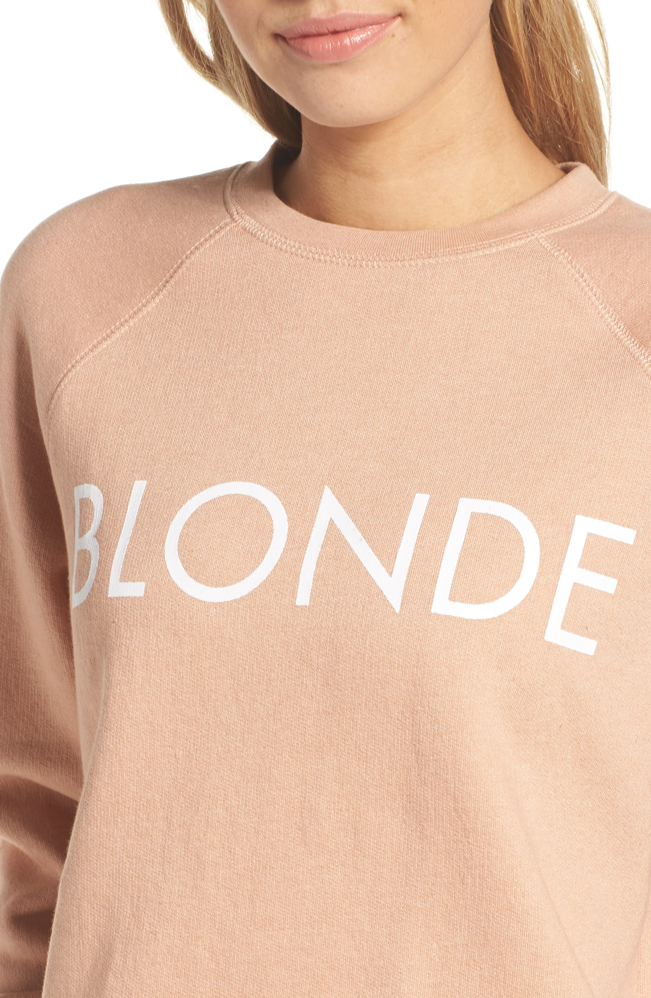 Middle Sister Blonde Sweatshirt,                             Alternate thumbnail 4, color,                             250