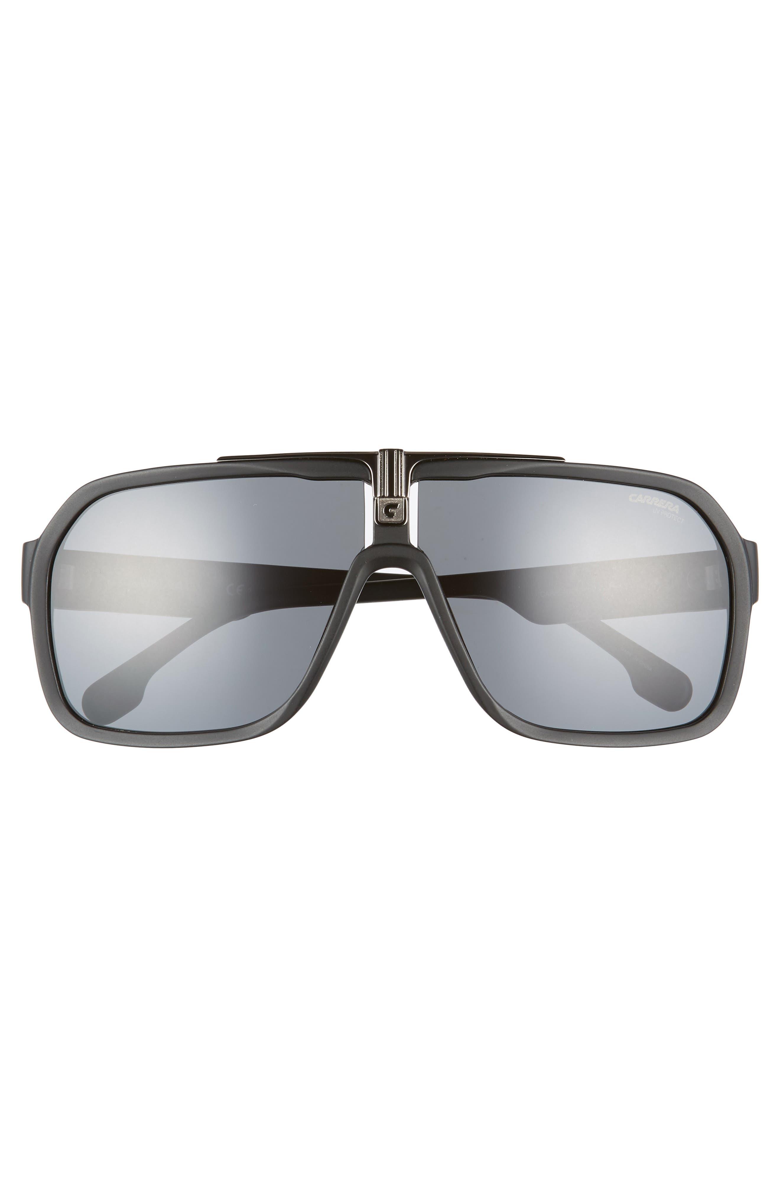64mm Navigator Sunglasses,                             Alternate thumbnail 2, color,                             MATTE BLACK