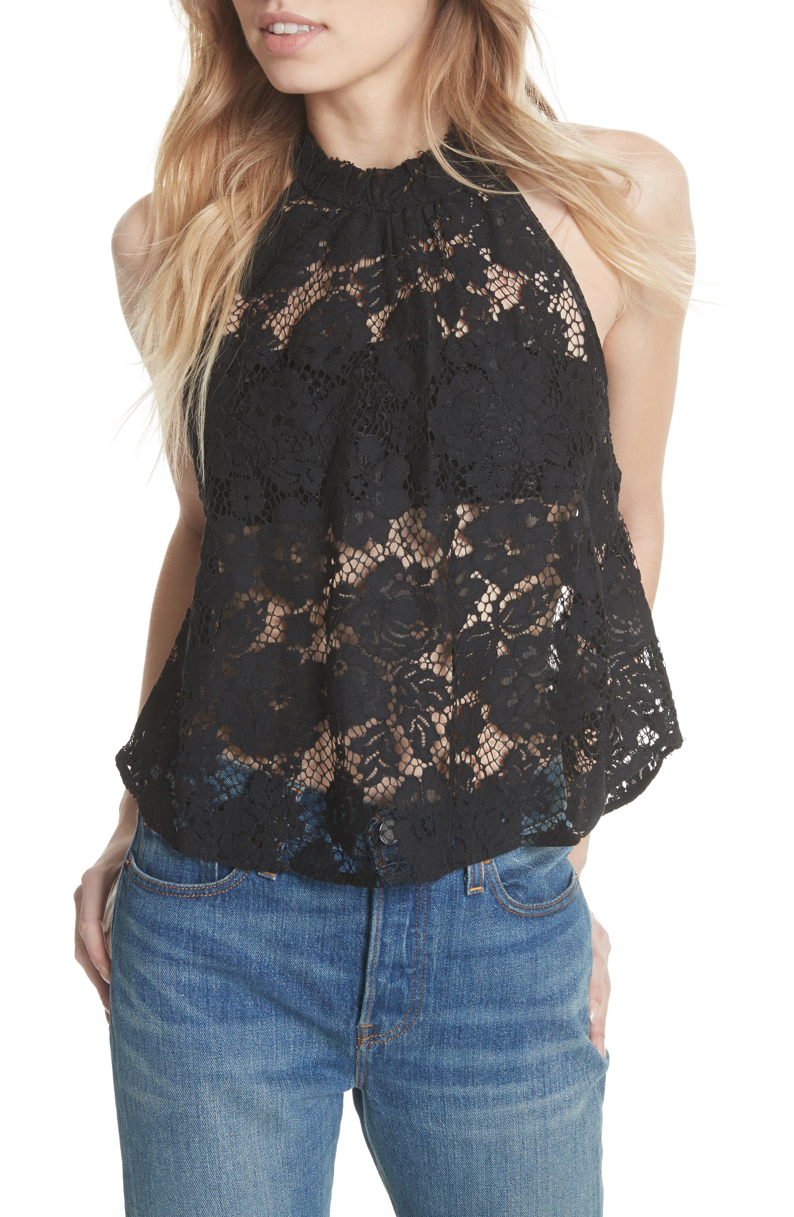Sweet Meadow Dreams Lace Top,                             Main thumbnail 1, color,                             001