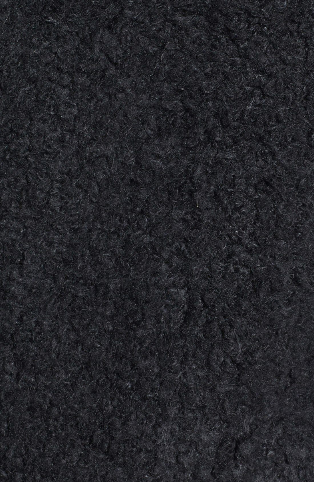 'Teddy' Faux Fur Peacoat,                             Alternate thumbnail 2, color,                             001