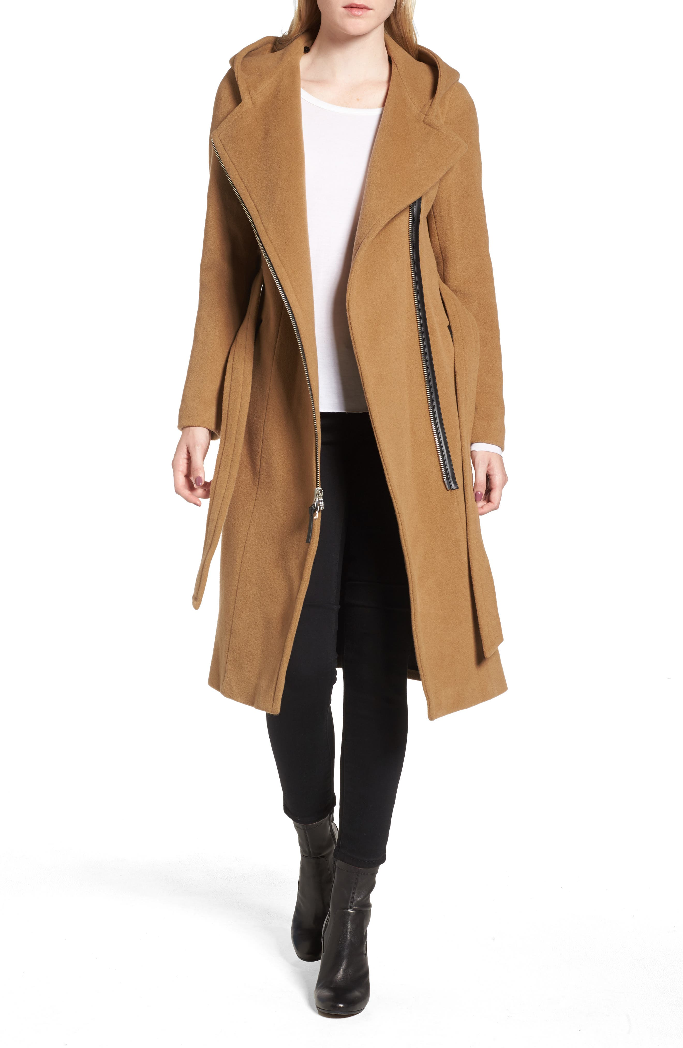 Janya Wool Blend Coat,                             Alternate thumbnail 4, color,                             253