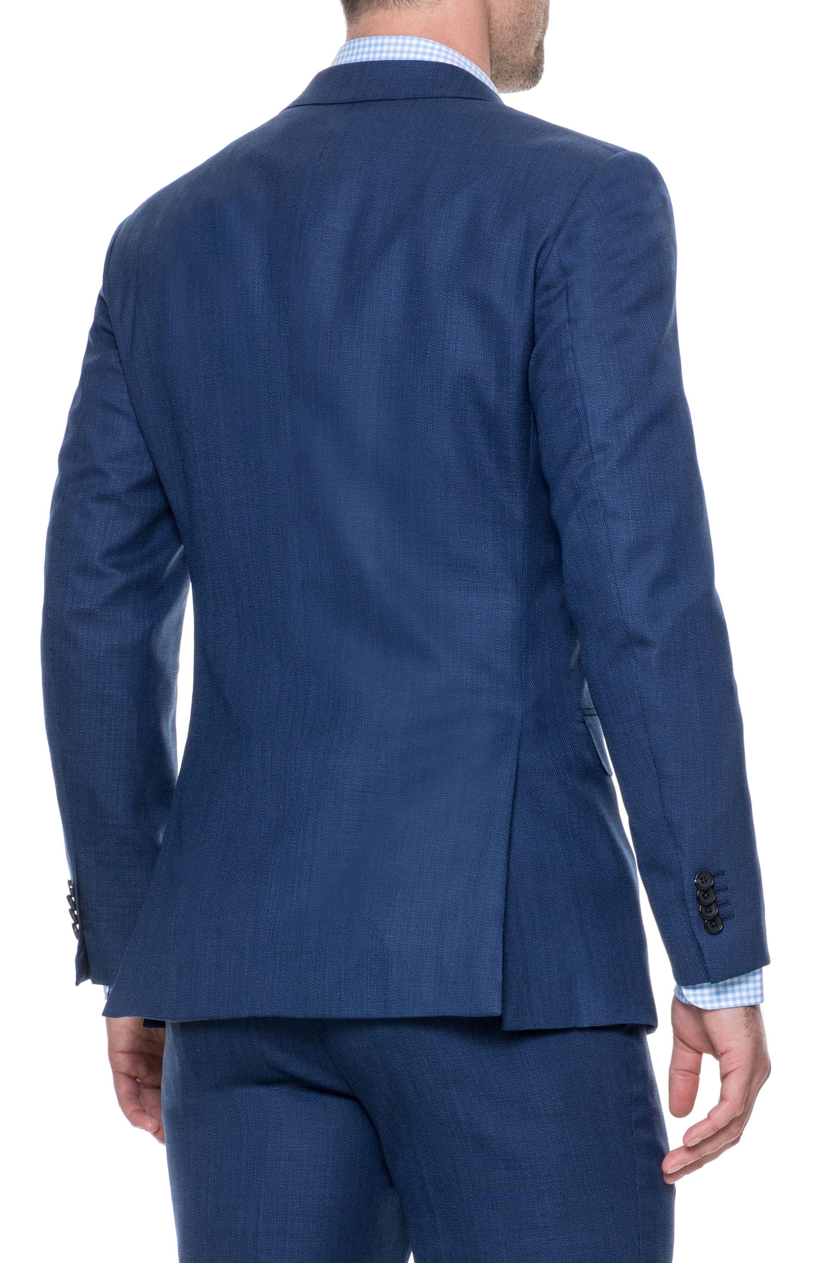 Newbridge Regular Fit Stretch Wool Blazer,                             Alternate thumbnail 2, color,                             ECLIPSE