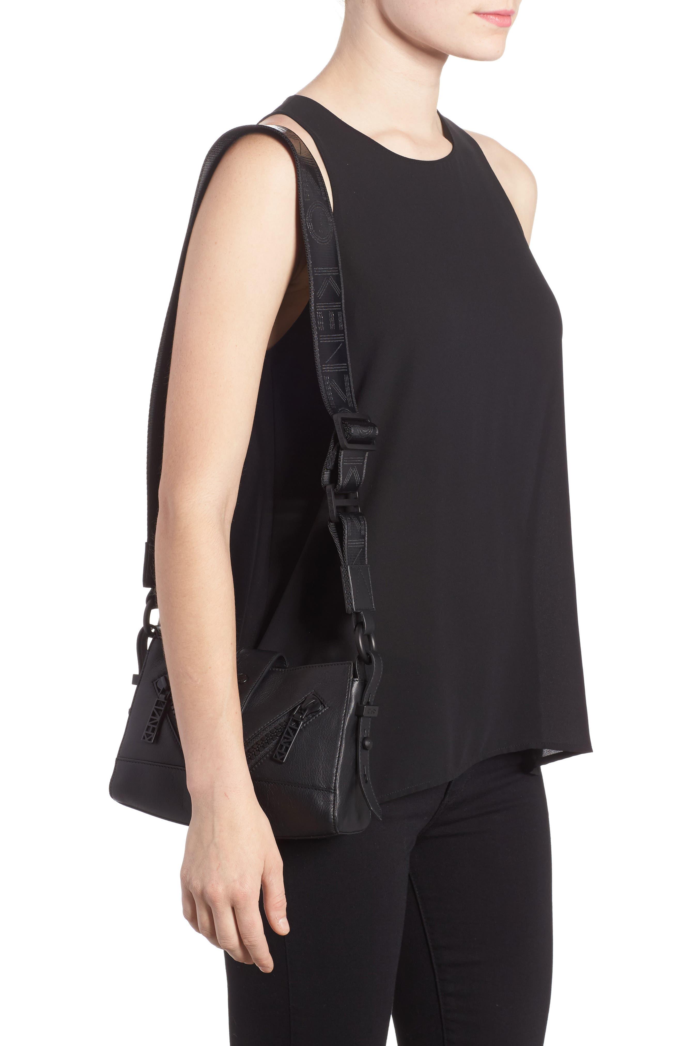 Mini Kalifornia Leather Shoulder Bag,                             Alternate thumbnail 2, color,                             001