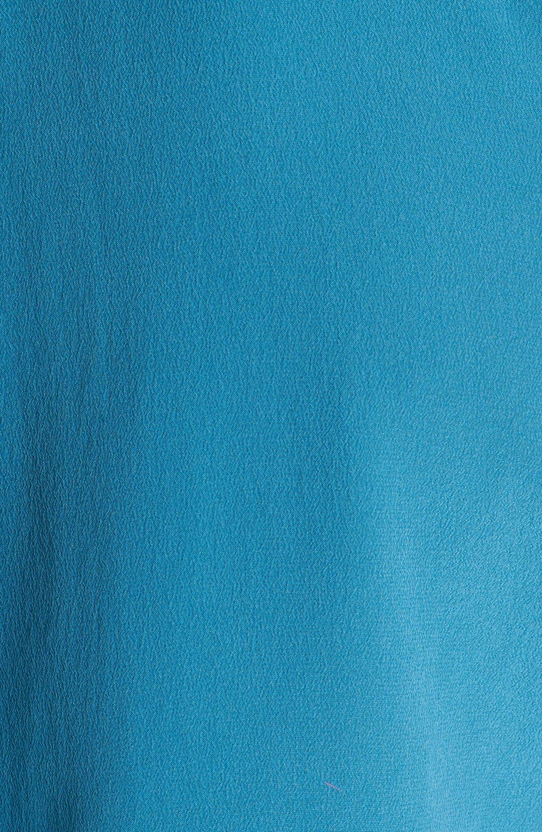 'Slim Signature' Sleeveless Silk Shirt,                             Alternate thumbnail 168, color,