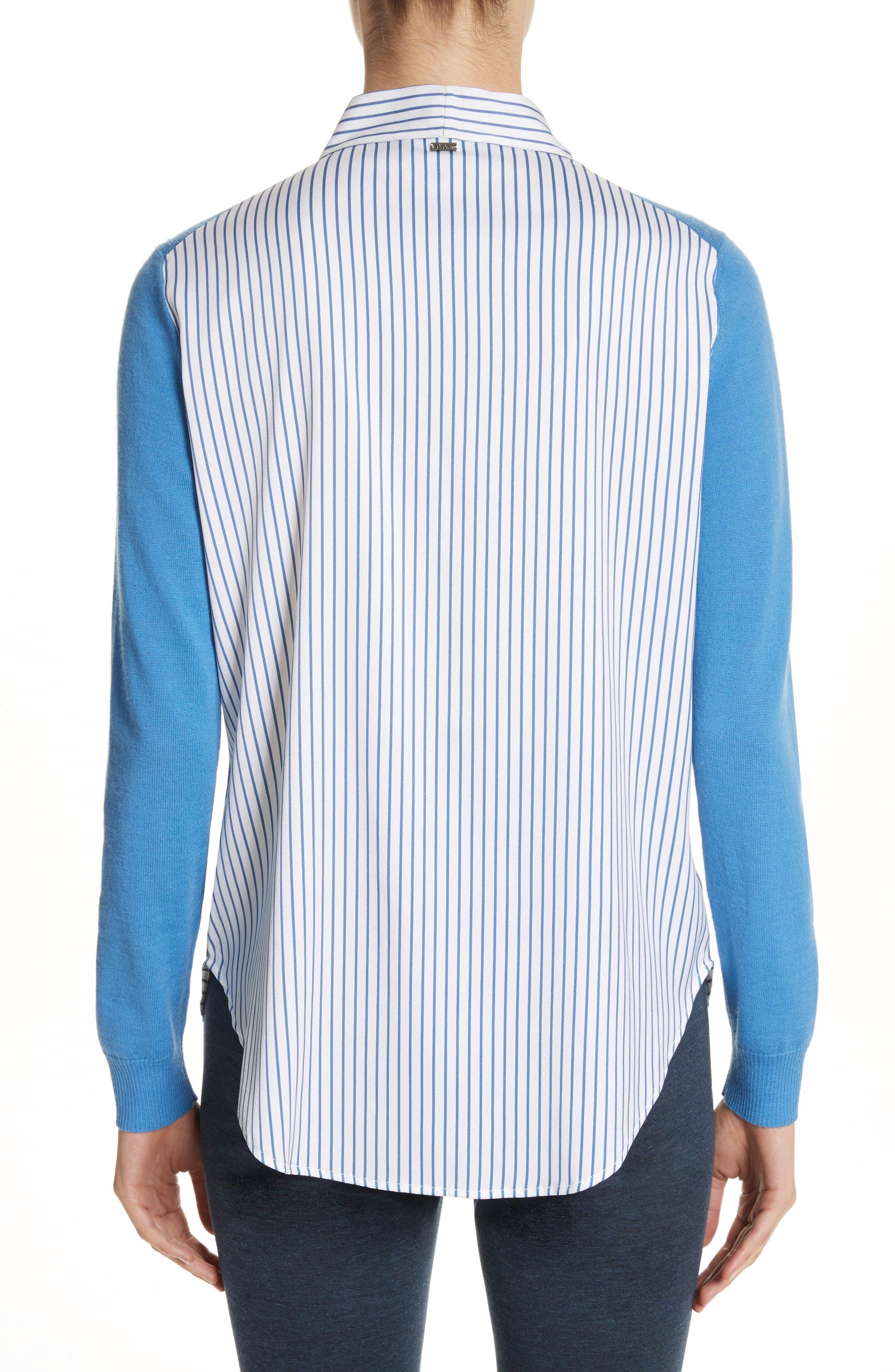 Layered Jersey Knit Cardigan,                             Alternate thumbnail 2, color,