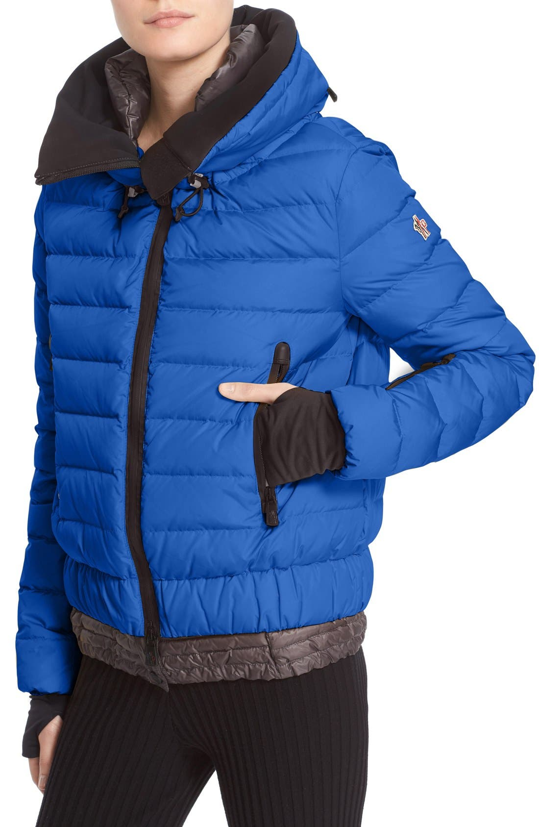 'Vonne' Nylon Down Puffer Jacket,                             Main thumbnail 1, color,                             BLUE