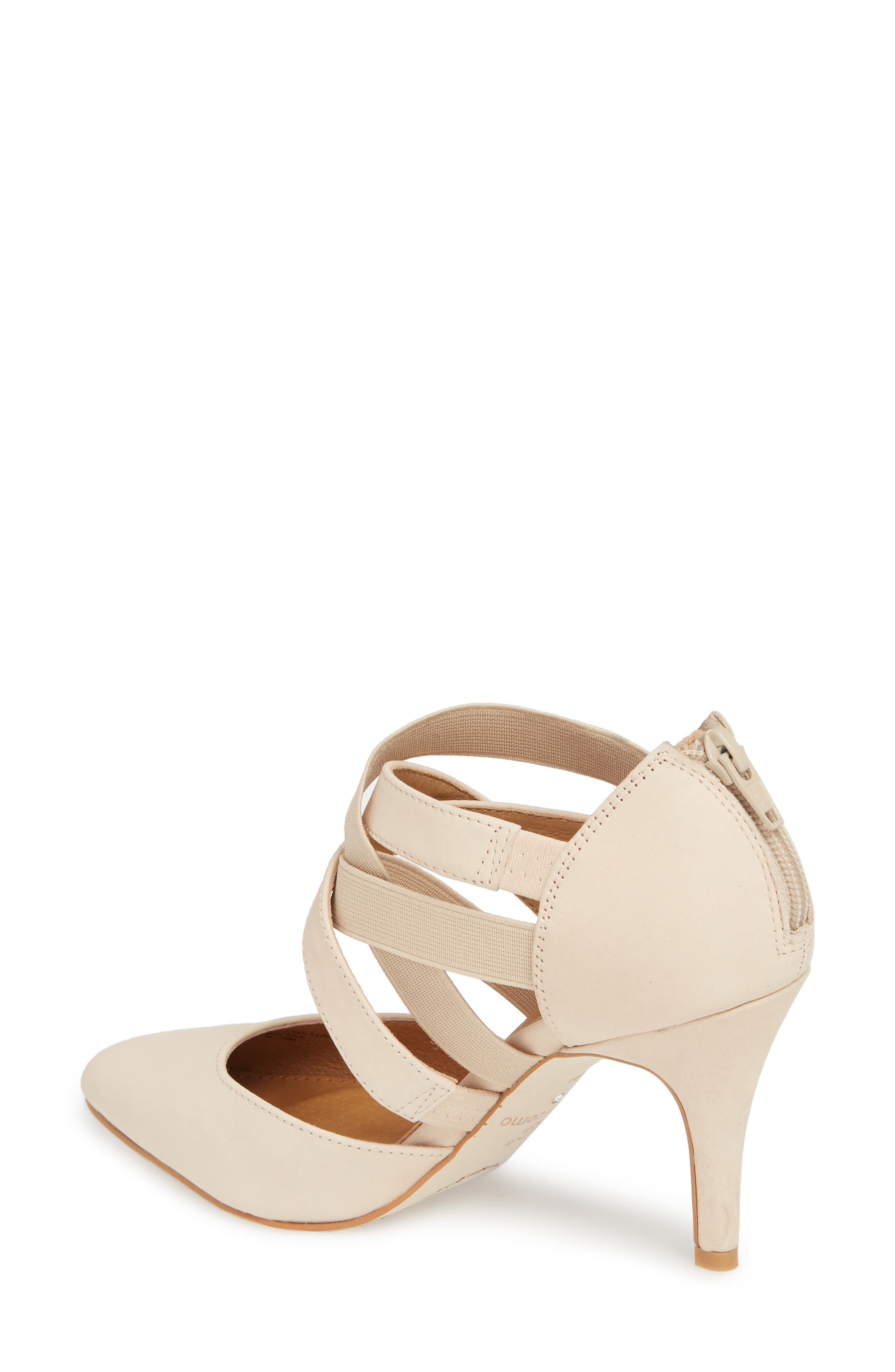 Crystal Strappy Pump,                             Alternate thumbnail 2, color,                             NUDE NUBUCK