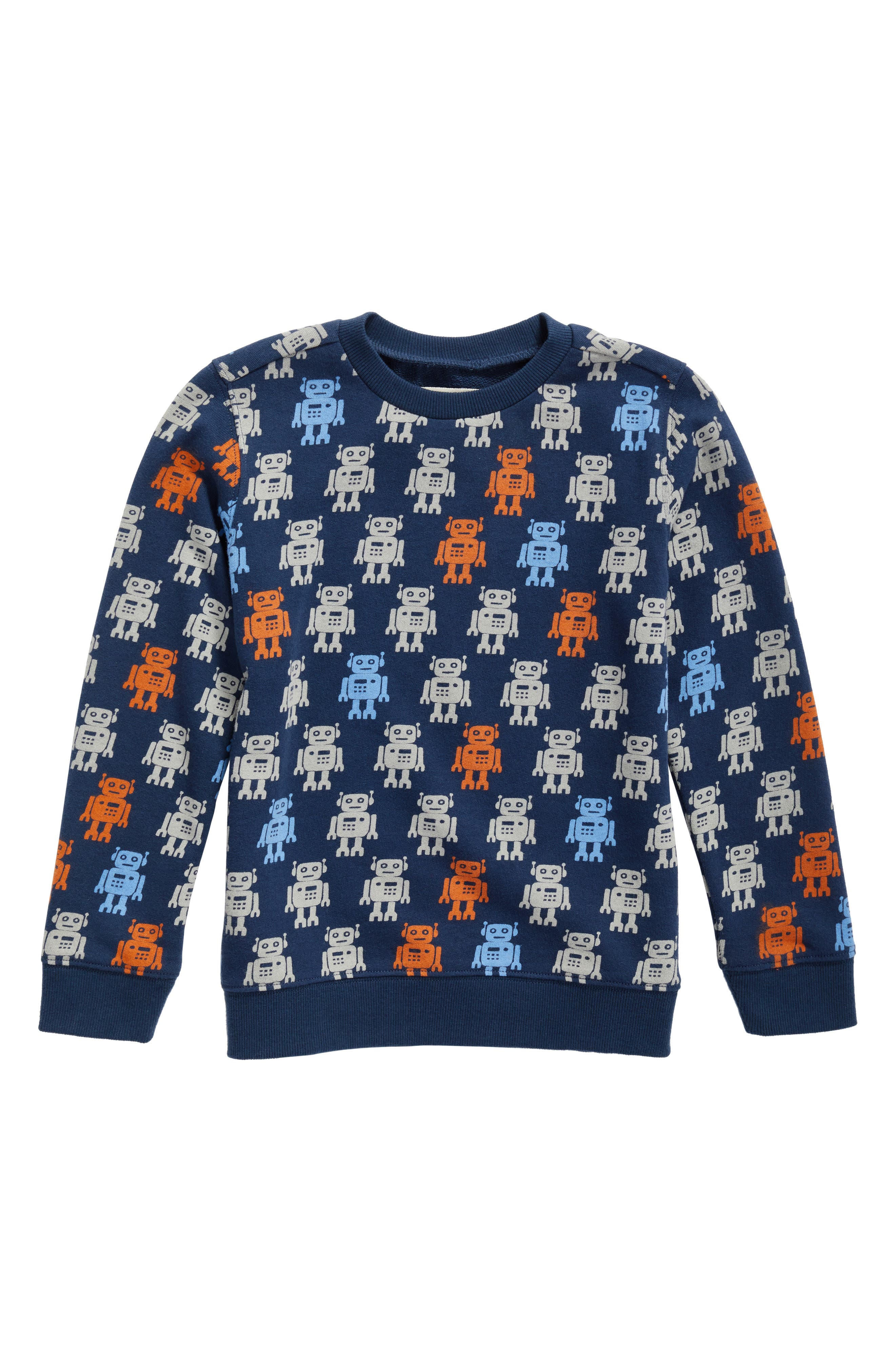 Robot Print Sweatshirt,                         Main,                         color, 410