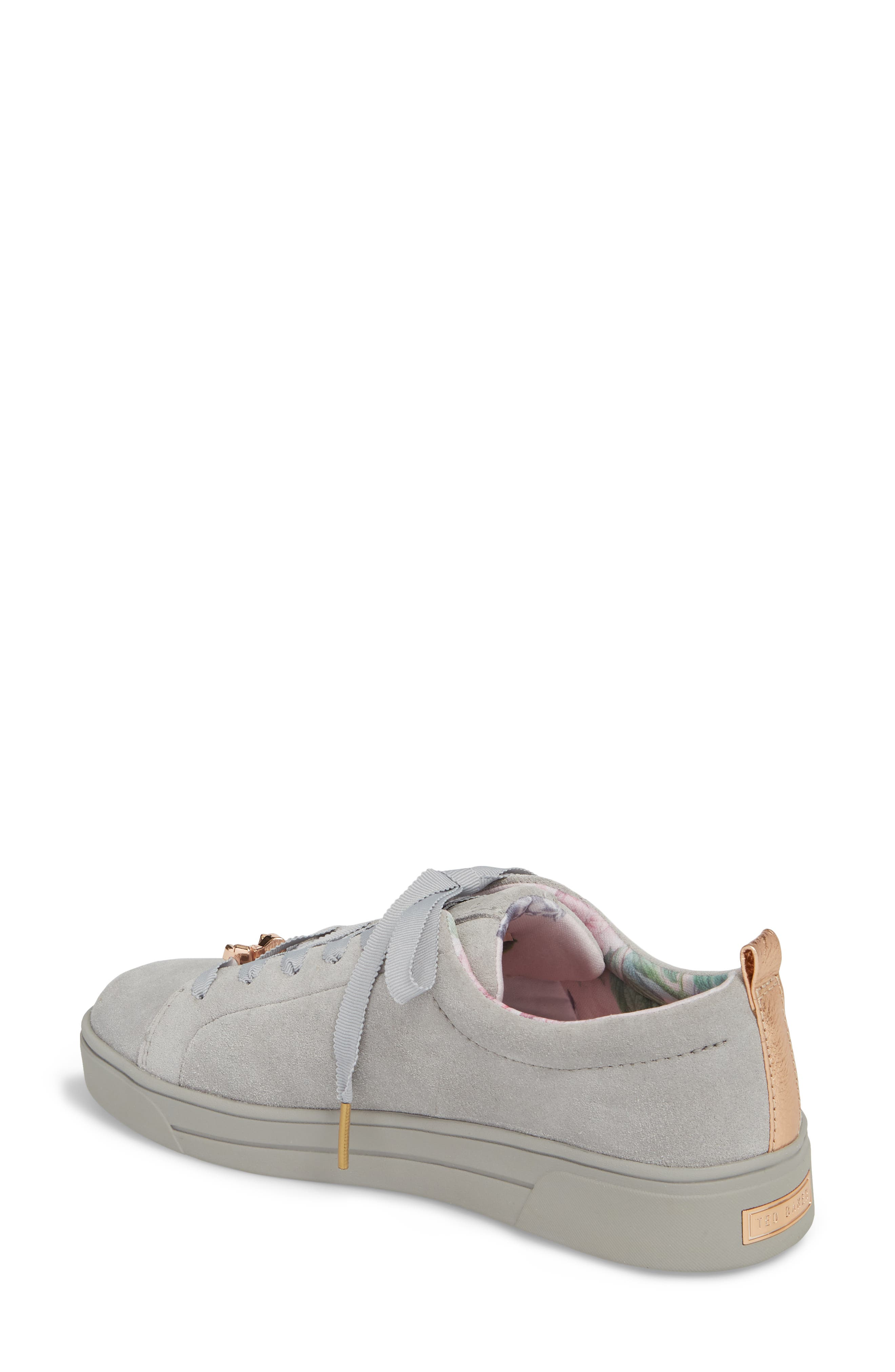 Kelleis Sneaker,                             Alternate thumbnail 2, color,                             LIGHT GREY SUEDE
