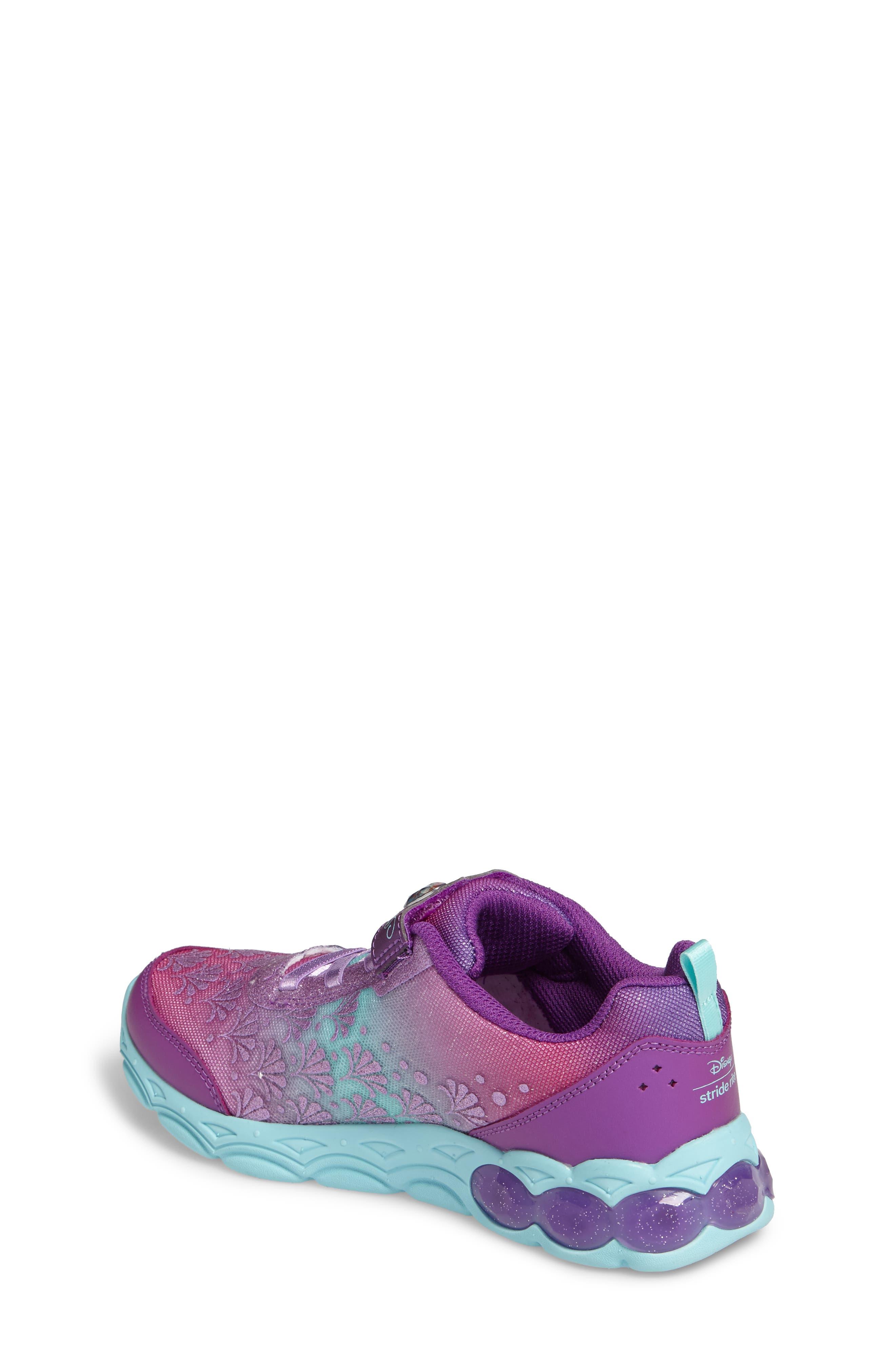 Disney<sup>®</sup> Ariel Ocean Adventurer Light-Up Sneaker,                             Alternate thumbnail 2, color,                             650