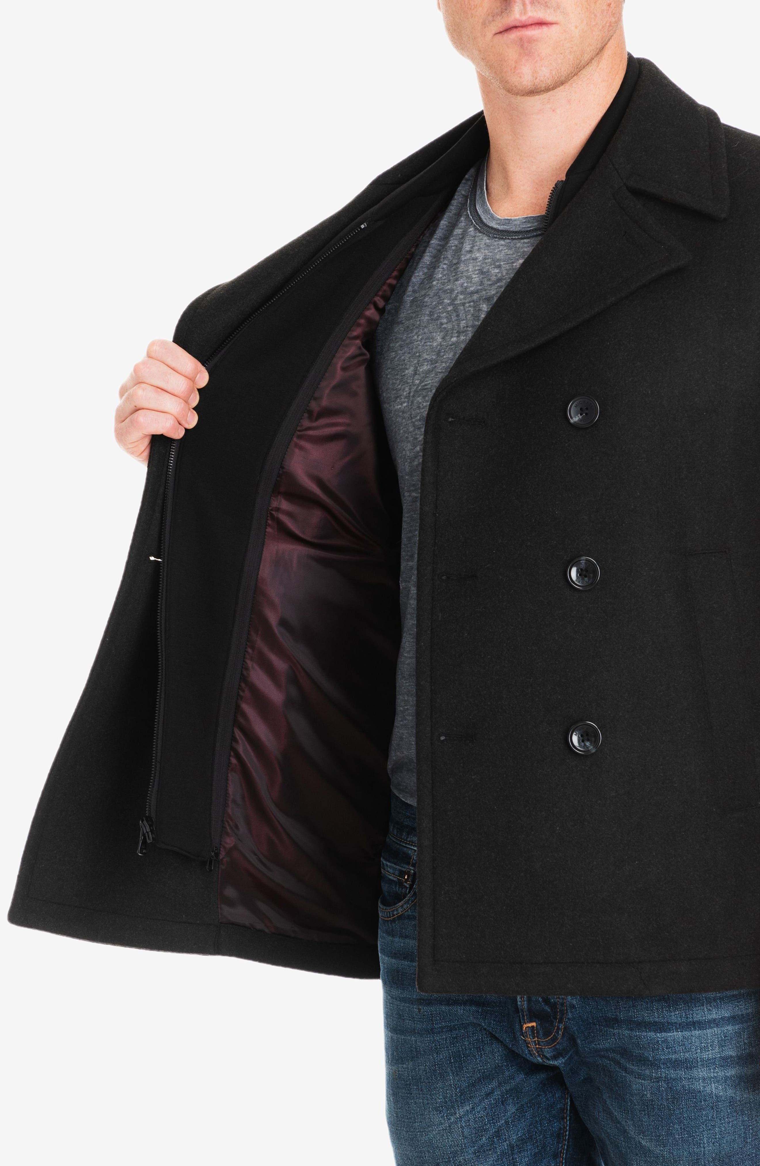 Seventh Street Peacoat,                             Alternate thumbnail 4, color,                             LODEN HEATHER
