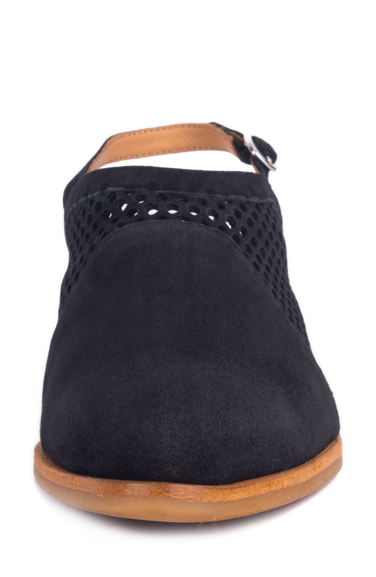 Toselli Water Resistant Slingback Bootie,                             Alternate thumbnail 4, color,                             NERO