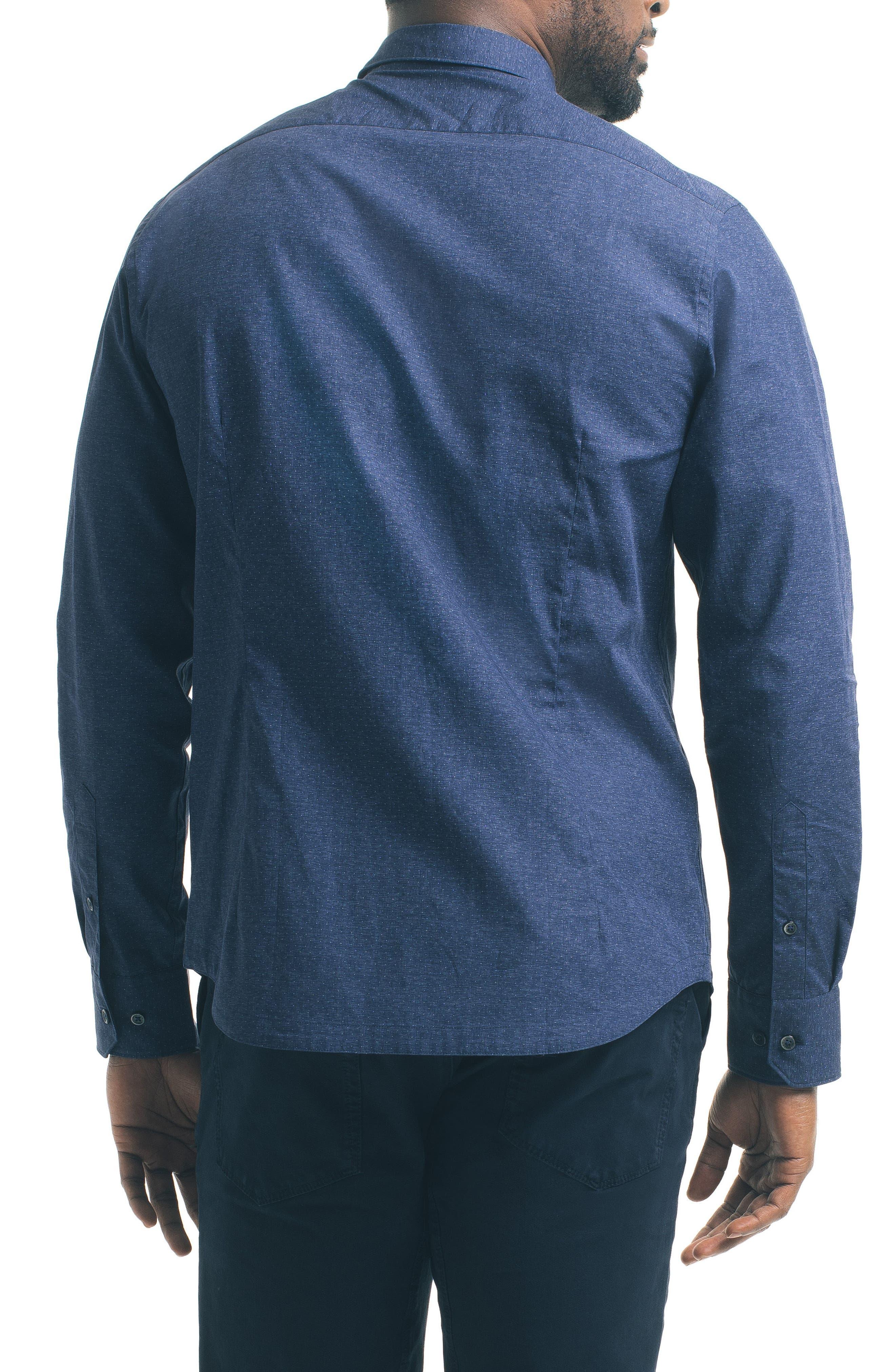 Slim Fit Blue Dot Sport Shirt,                             Alternate thumbnail 2, color,                             400
