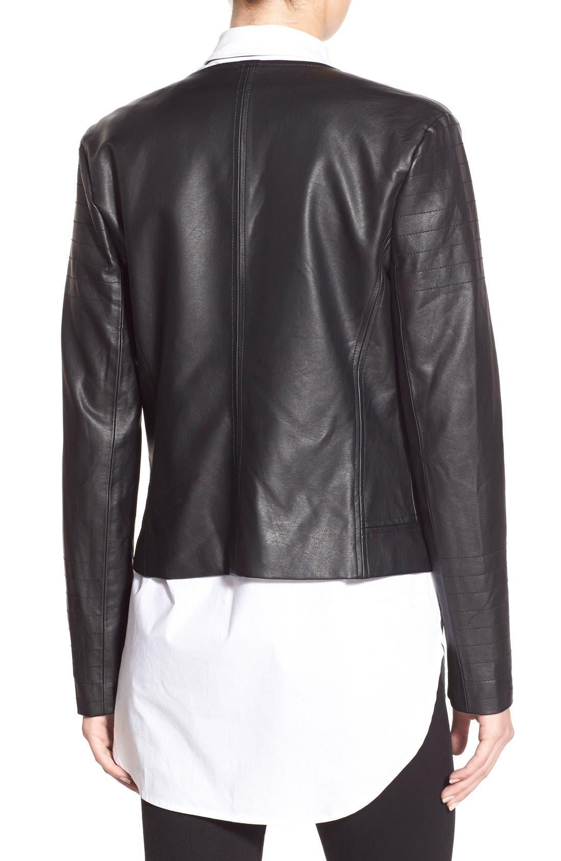 'Helena' Faux Leather Jacket,                             Alternate thumbnail 5, color,                             001