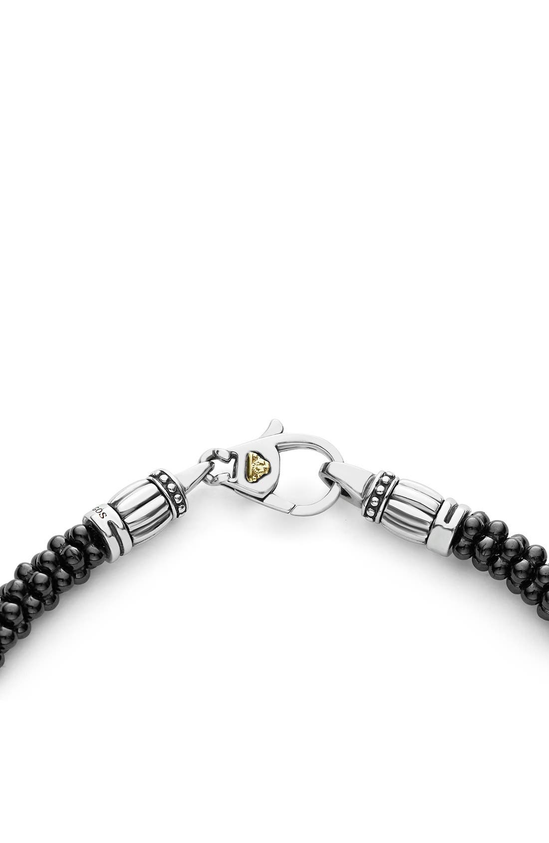 'Caviar Gold' Bracelet,                             Alternate thumbnail 4, color,                             BLACK/ GOLD