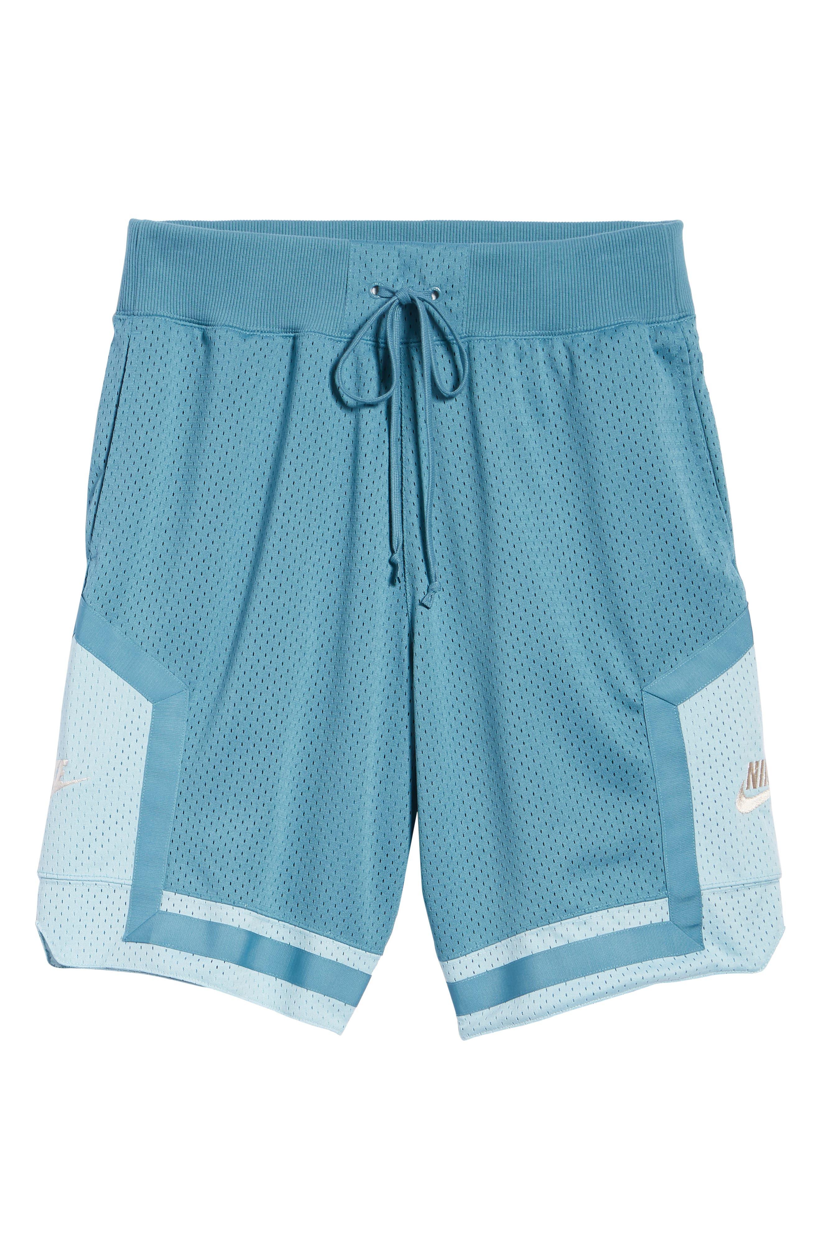 NSW AF1 Shorts,                             Alternate thumbnail 6, color,                             AQUA/ OCEAN BLISS/ OREWOOD